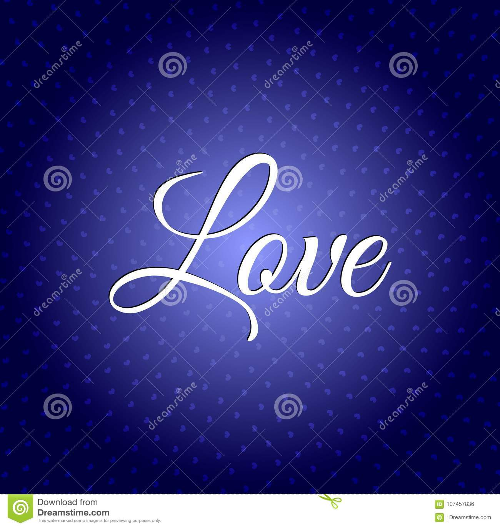 Miłość tekst Ilustracja Szczęśliwy Valentins ` s dzień 14th Luty