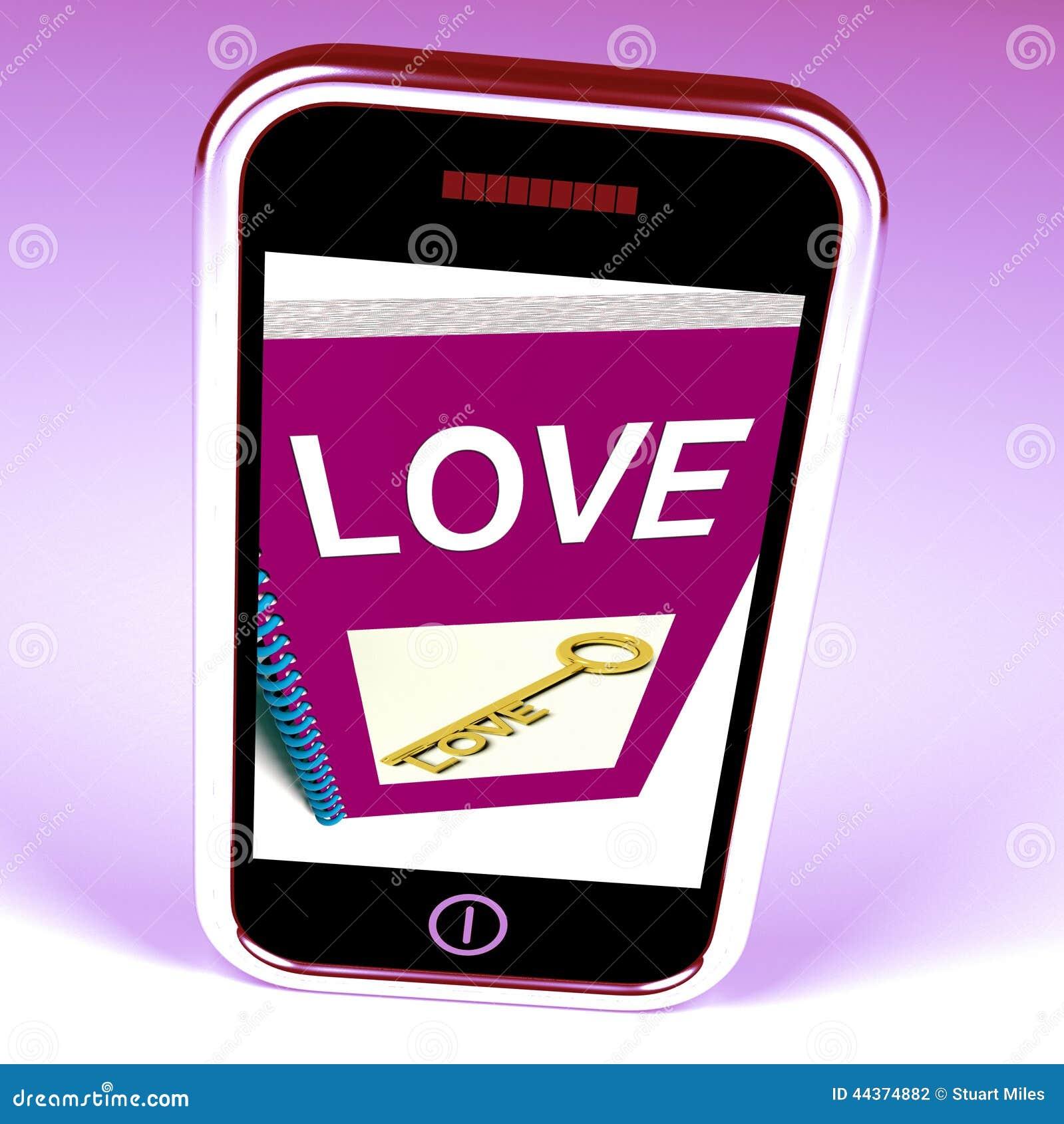 Miłość telefonu przedstawień klucz Czule uczucia