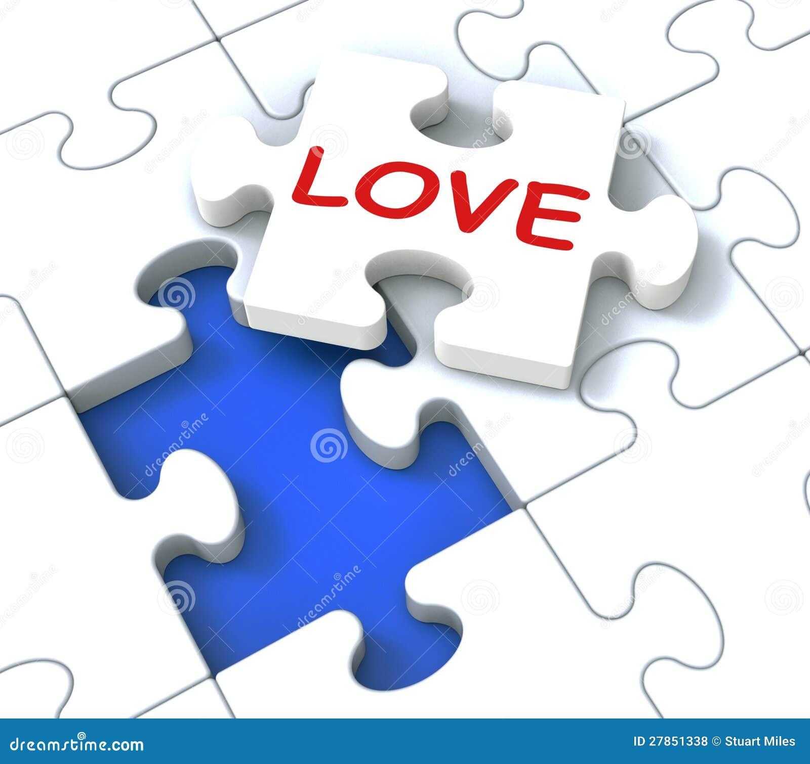 Miłości łamigłówka Pokazuje Kochać pary