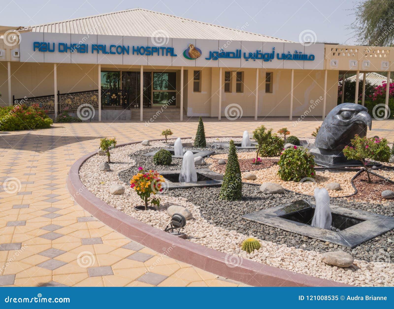 Miły Abu Dhabi jastrząbka szpital, UAE