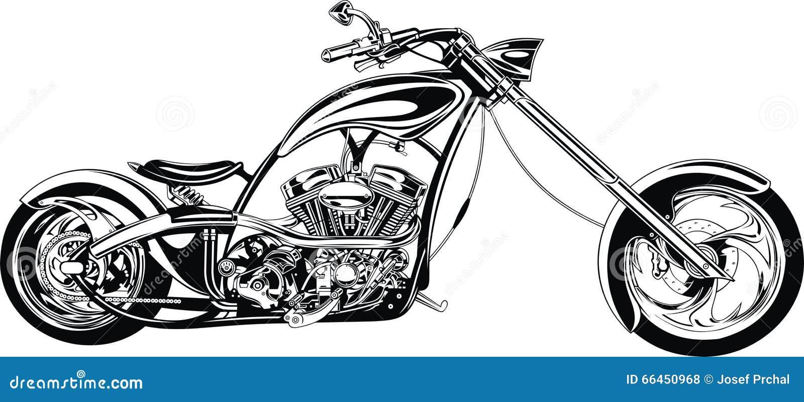 mi dise u00f1o blanco y negro de la moto ilustraci u00f3n del vector