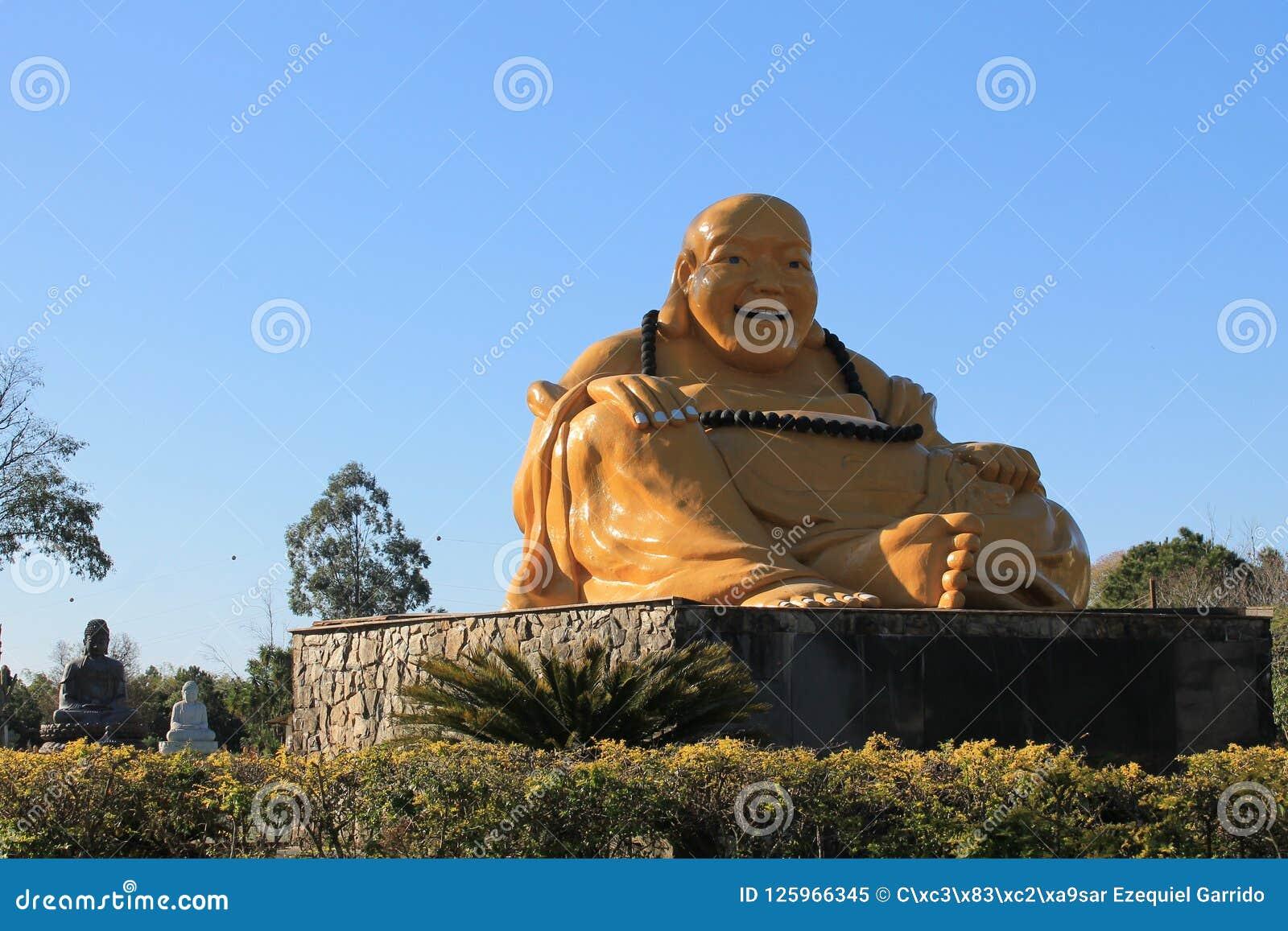 Mi La pu-San die Boedha, Chen Tien Temple glimlachen - Foz doet Iguaçu, Brazilië