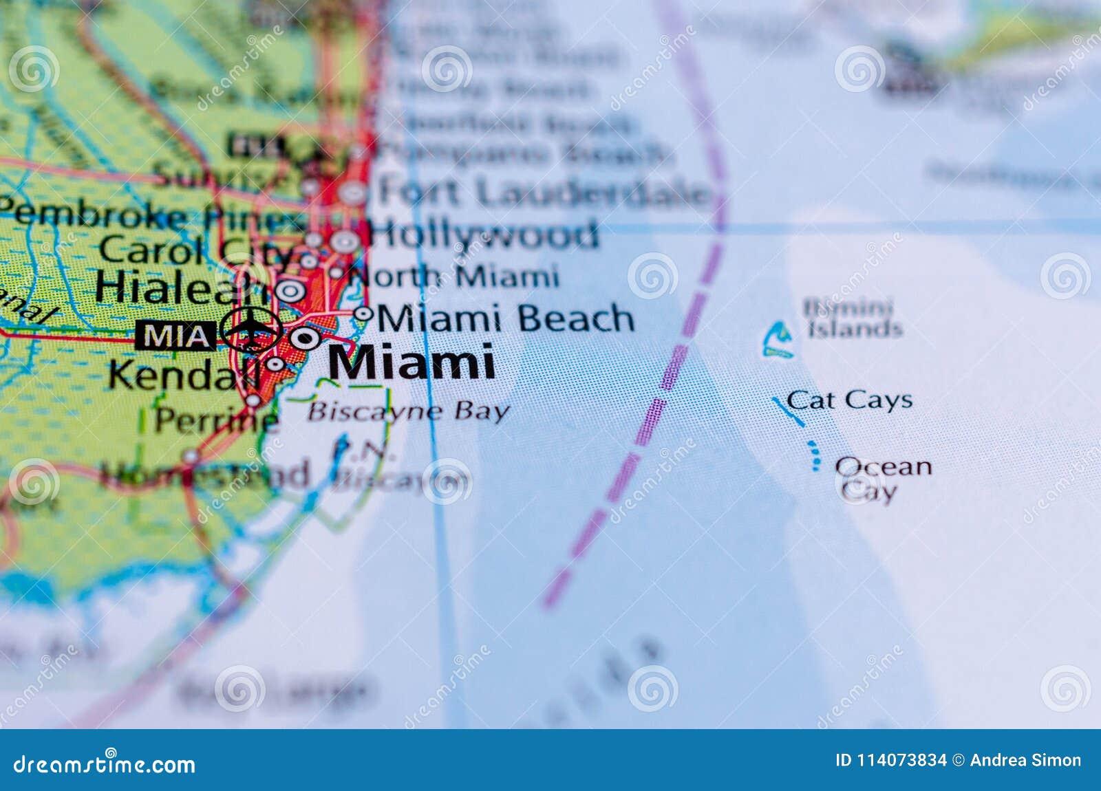 Miami auf Karte