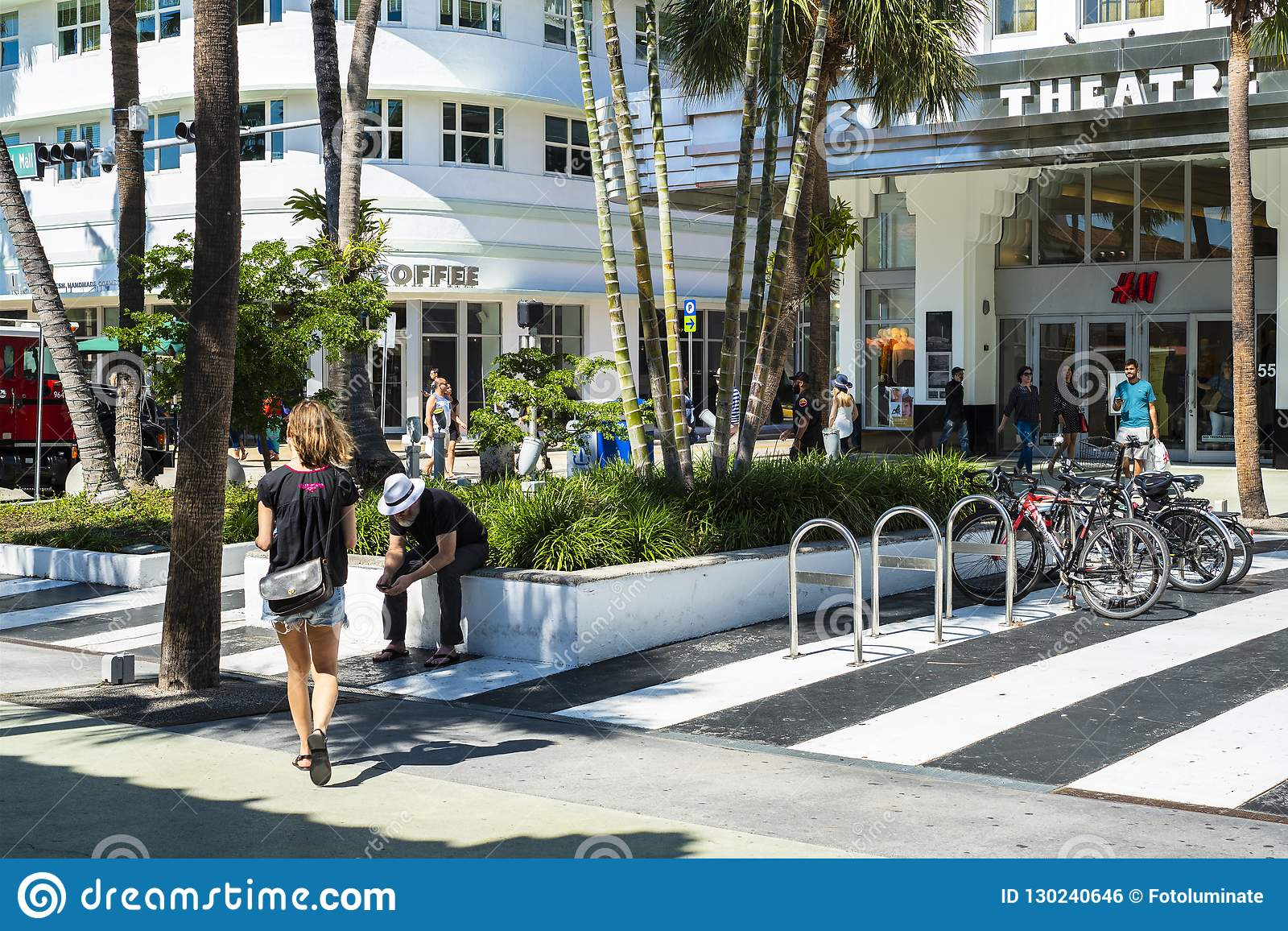 Miami Beach Cityscape Editorial Photo Image Of South