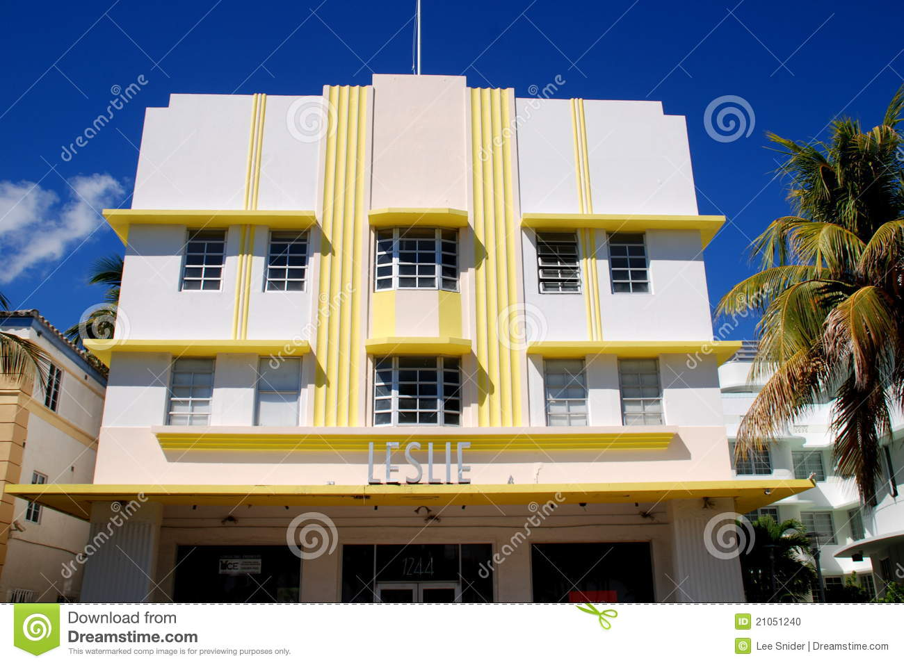 south beach miami fl art deco district editorial stock image