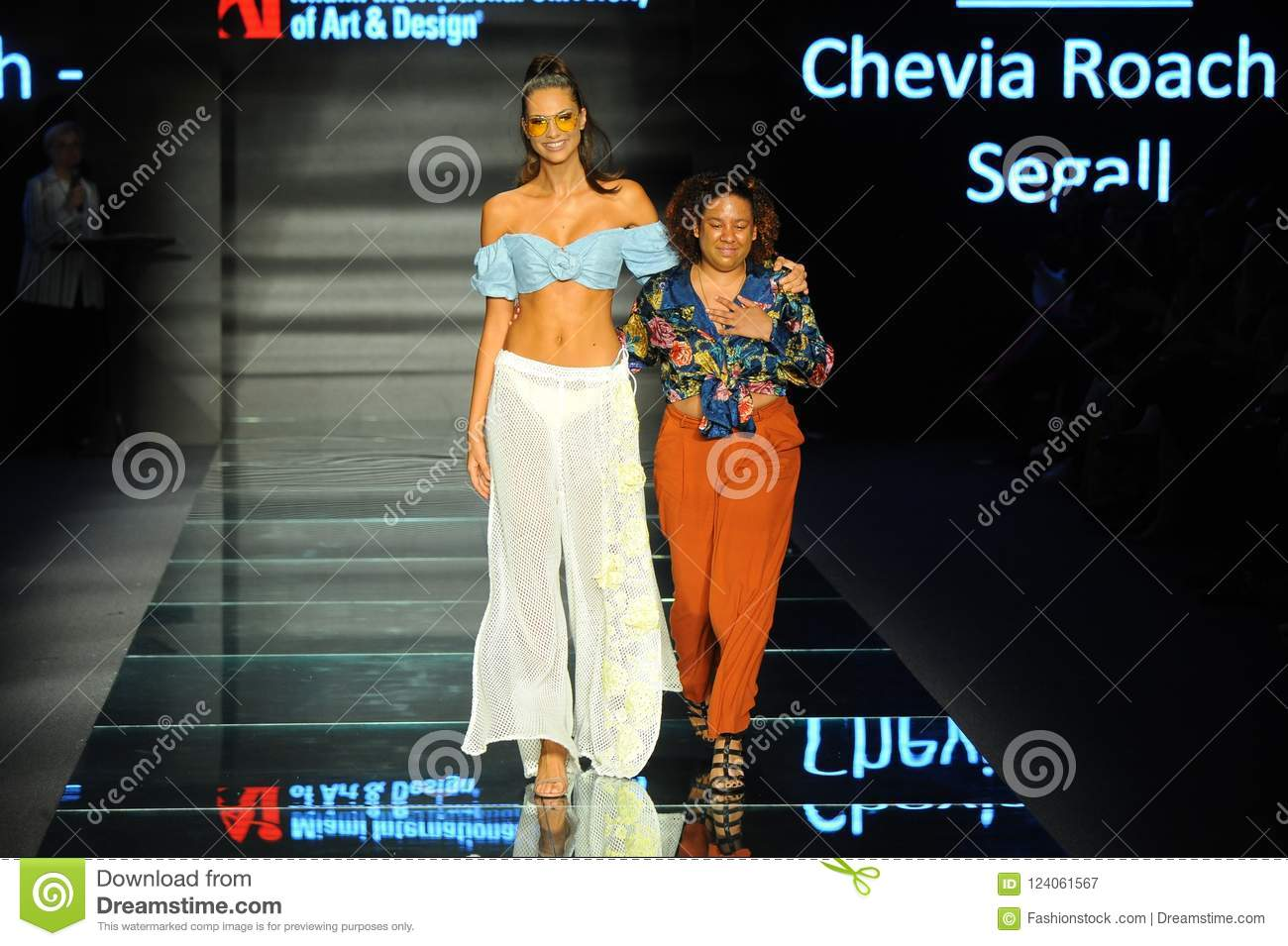 Chevia Roach Segall Walks Runway During Fashion Show Presented By Designers Of Miami International University Of Art And Design Editorial Photography Image Of Florida Design 124061567