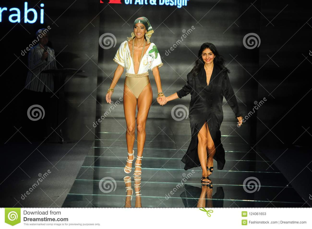 Elnaz Torabi Walks The Runway During Fashion Show Presented By Designers Of Miami International University Of Art And Design Editorial Stock Photo Image Of International Fitness 124061653