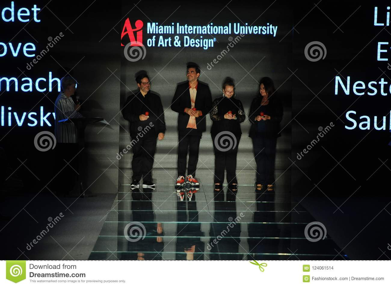 General Atmosphere On The Runway During The Fashion Show Presented By Students Of Miami International University Of Art And Design Editorial Stock Image Image Of July Bikini 124061514