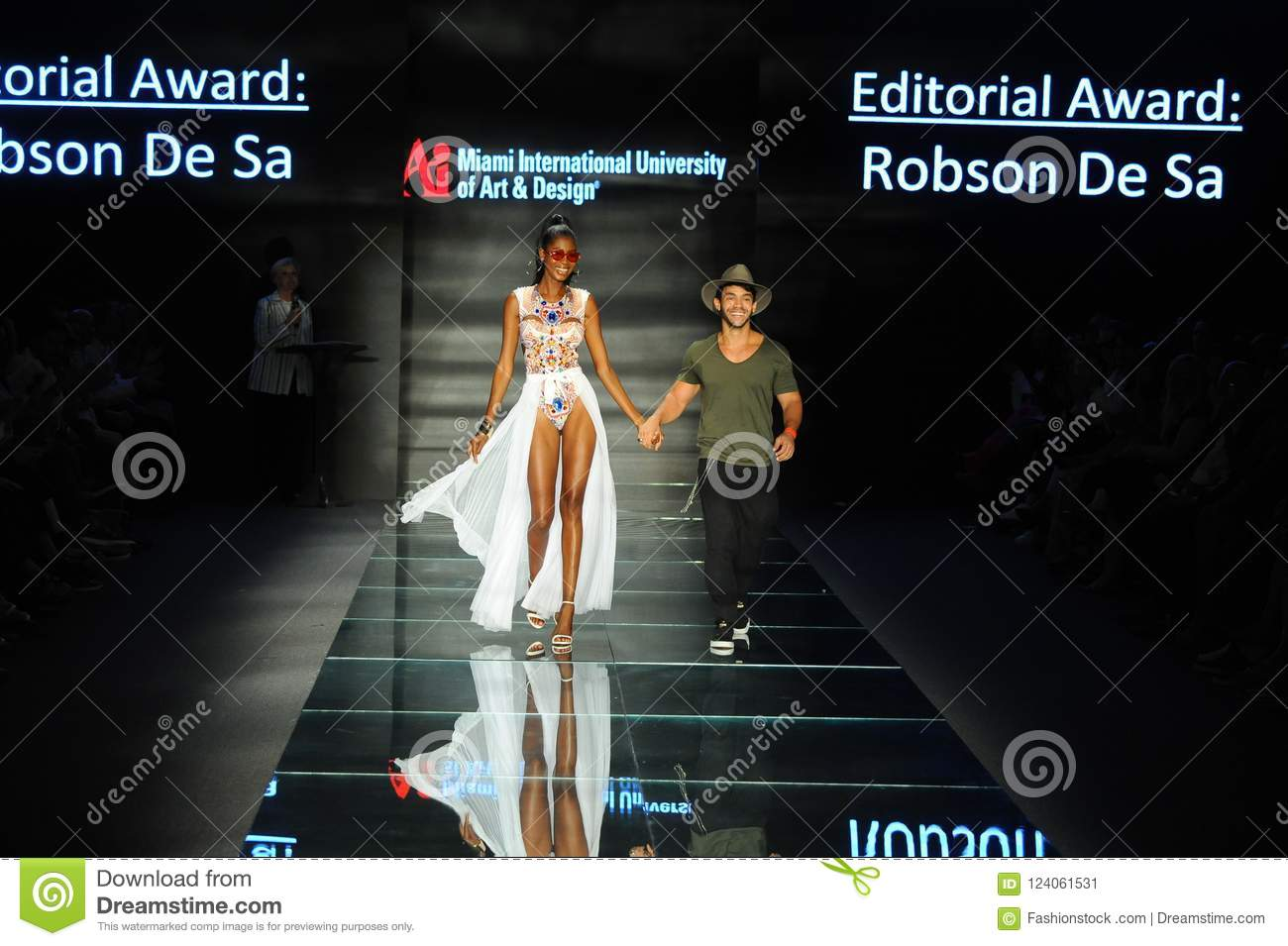 Robson De Sa Walks The Runway During Fashion Show Presented By Designers Of Miami International University Of Art And Design Editorial Photo Image Of Perfect Beauty 124061531