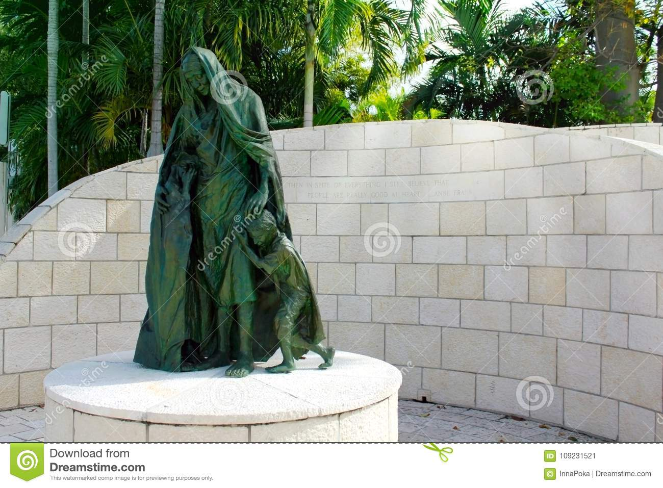 Miami Beach, FL, USA   January 10, 2014: Statues Of The Holocaust Memorial  Of The Greater Miami Jewish Federation In Miami, USA.