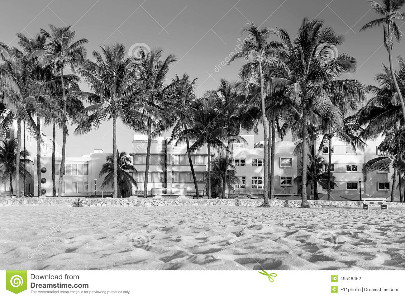 Miami Beach, Florida Hotels And Restaurants At Twilight On