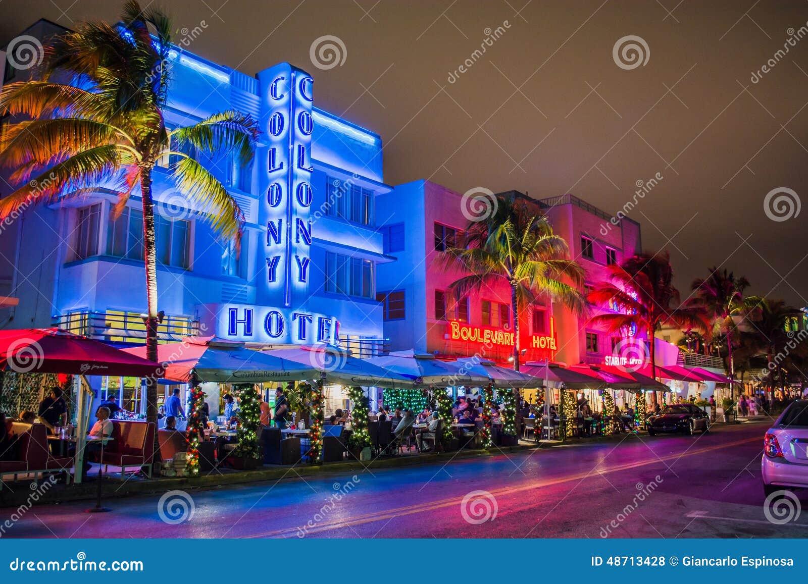 miami beach hotels editorial stock photo image of miami. Black Bedroom Furniture Sets. Home Design Ideas
