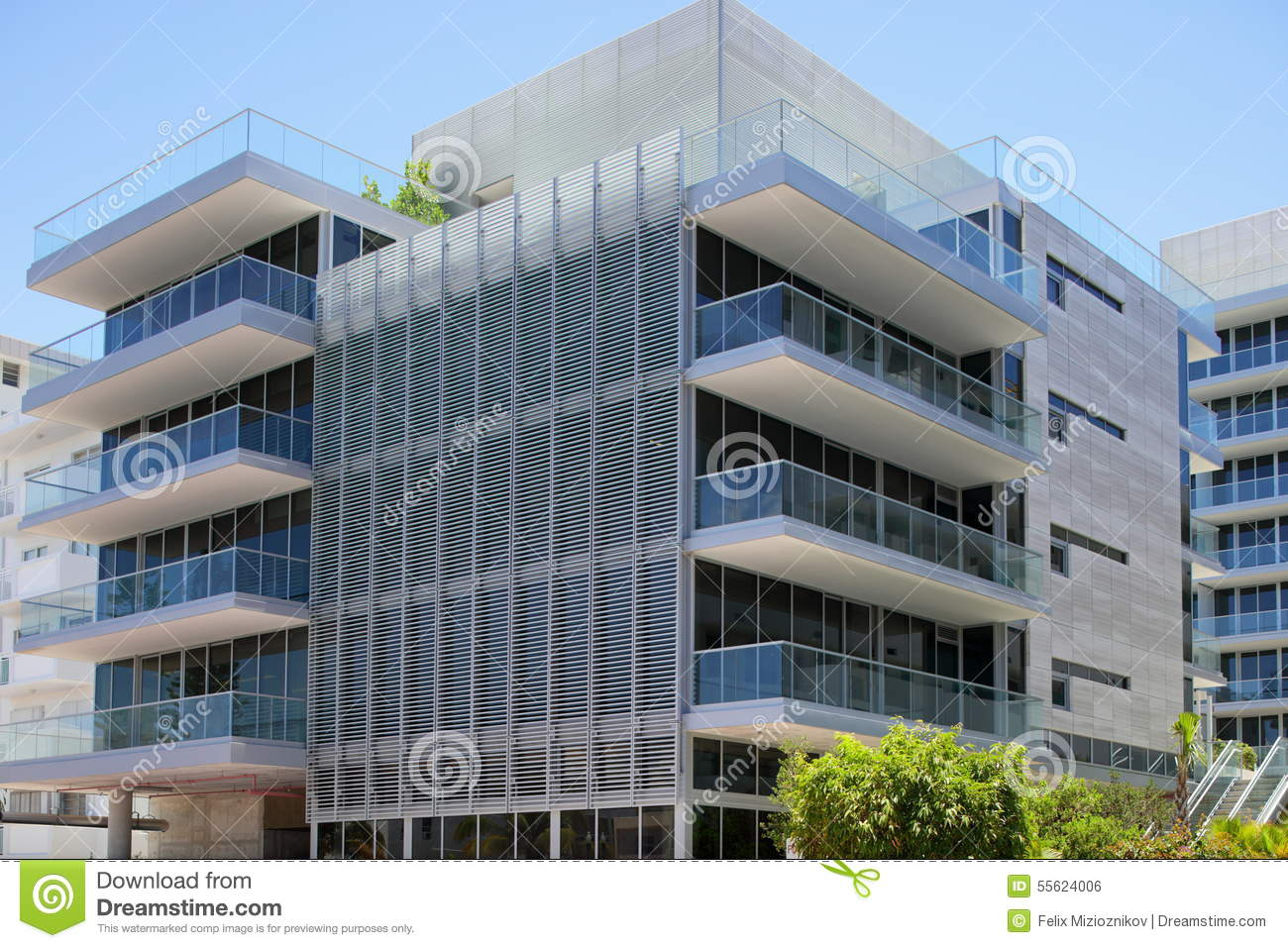Modern Architecture Miami miami beach modern architecture stock photo - image: 55624006