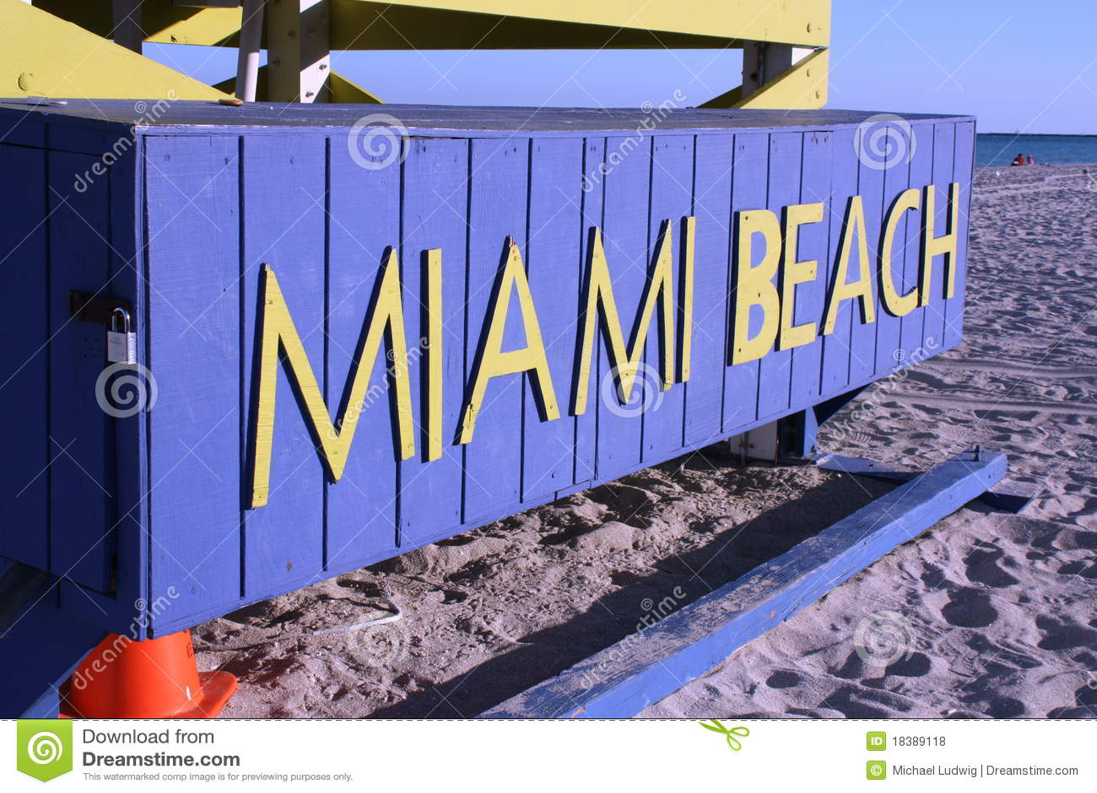 Miami- Beachzeichen