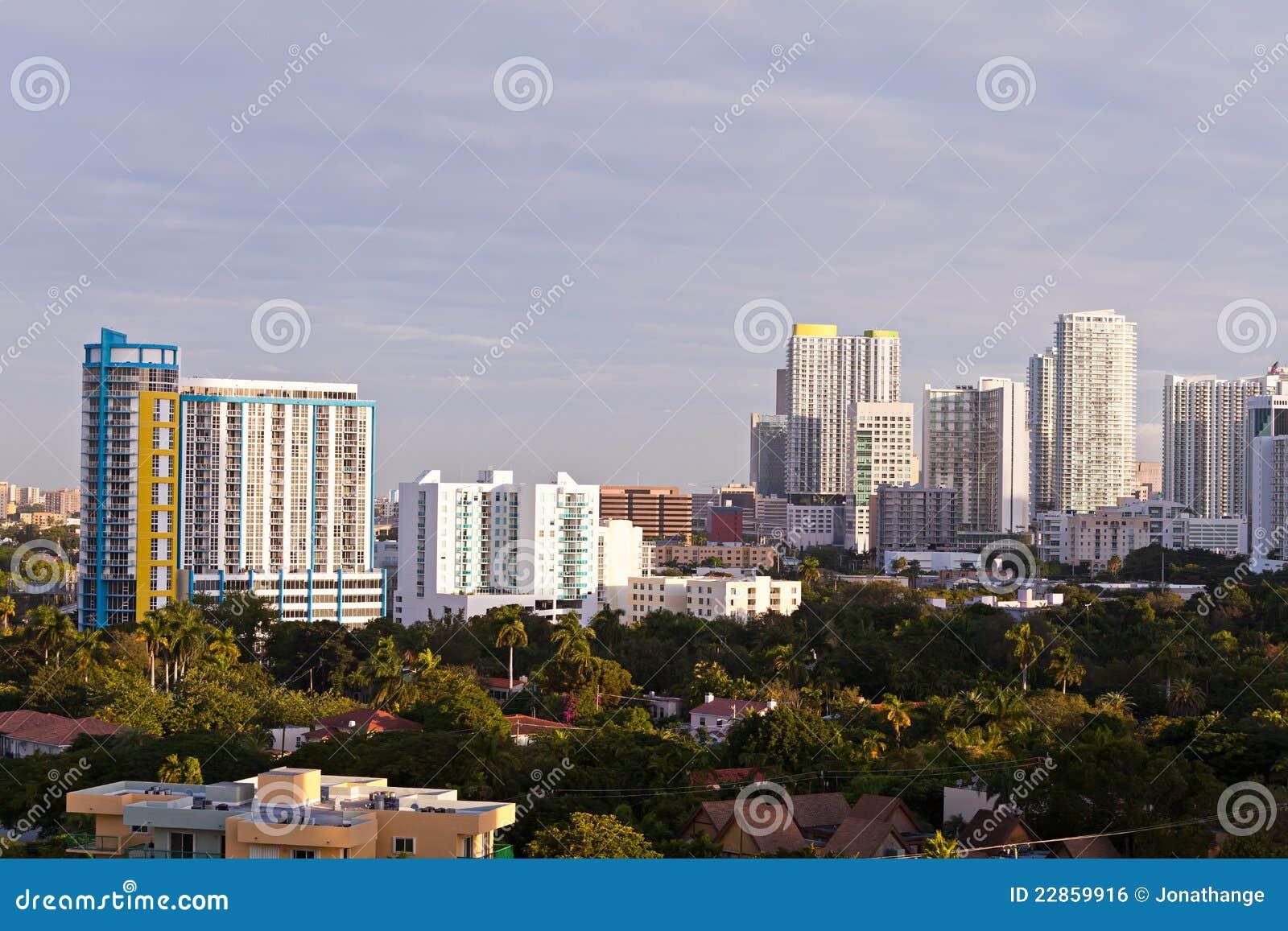 Miami Condos And Apartment Buildings Stock Photo - Image ...