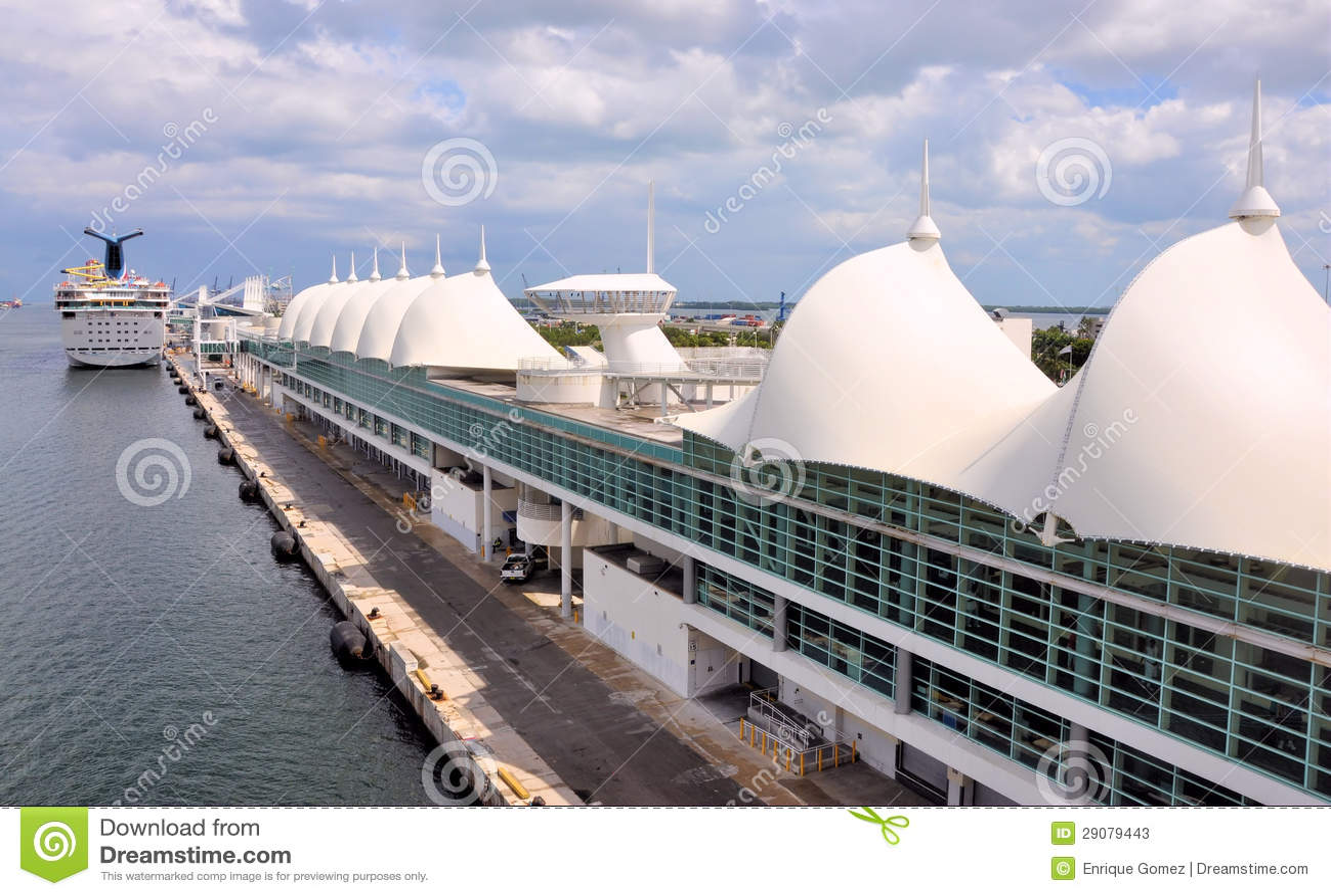 Miami Cruise Terminal Stock Image Image Of Industrial - Miami cruise ship terminal