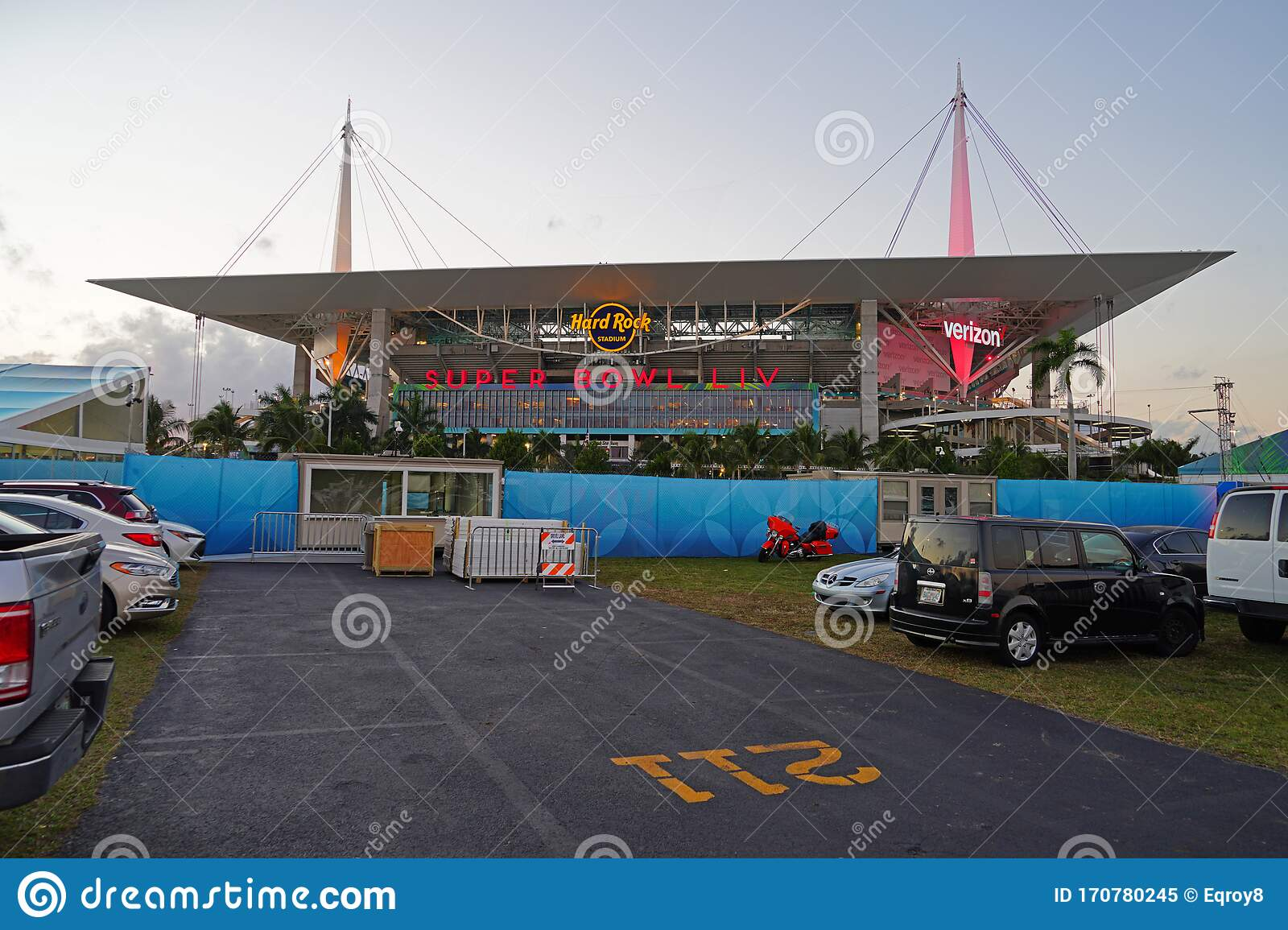 view of the hard rock stadium, located in miami gardens