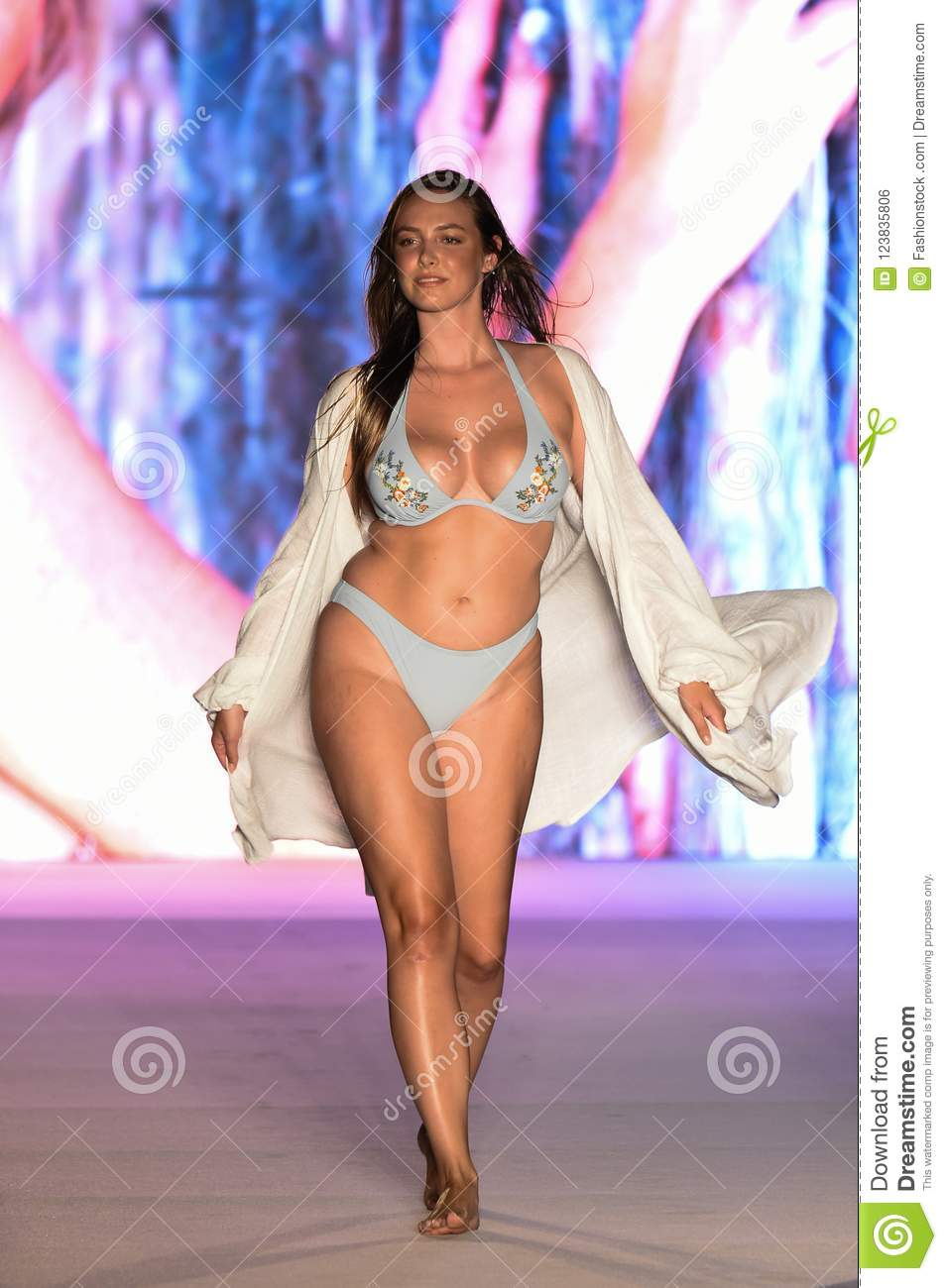 A Model Walks The Runway For The 2018 Sports Illustrated