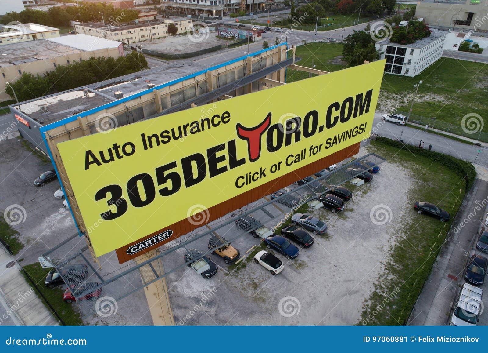 Auto Insurance Billboard Advertisement Editorial Photo ...