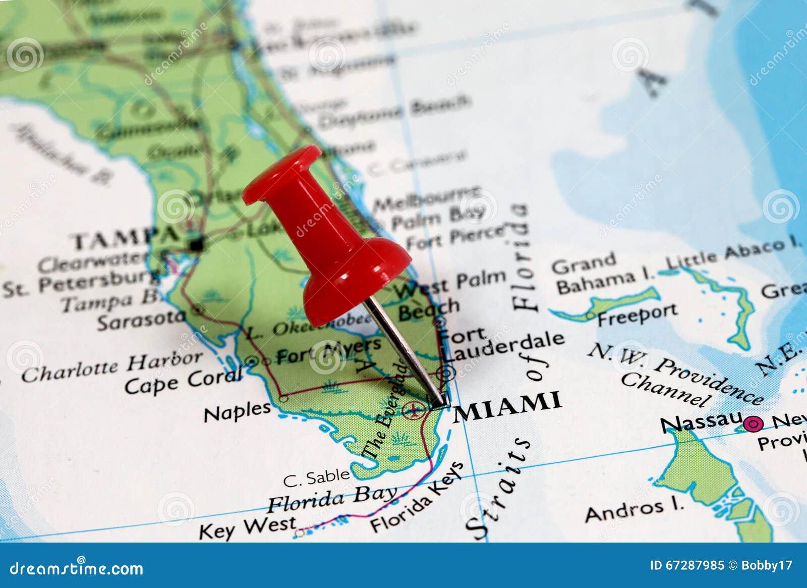 miami in florida, usa stockbild. bild von druckbolzen - 67287985