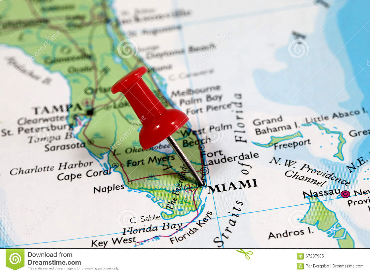 Miami In Florida Usa Stock Image Image Of Search Push 67287985