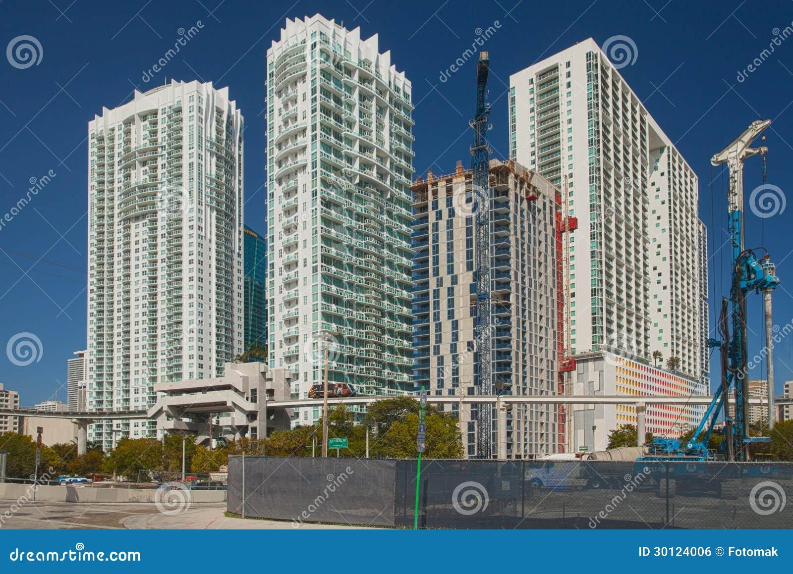 city of miami florida construction editorial photo