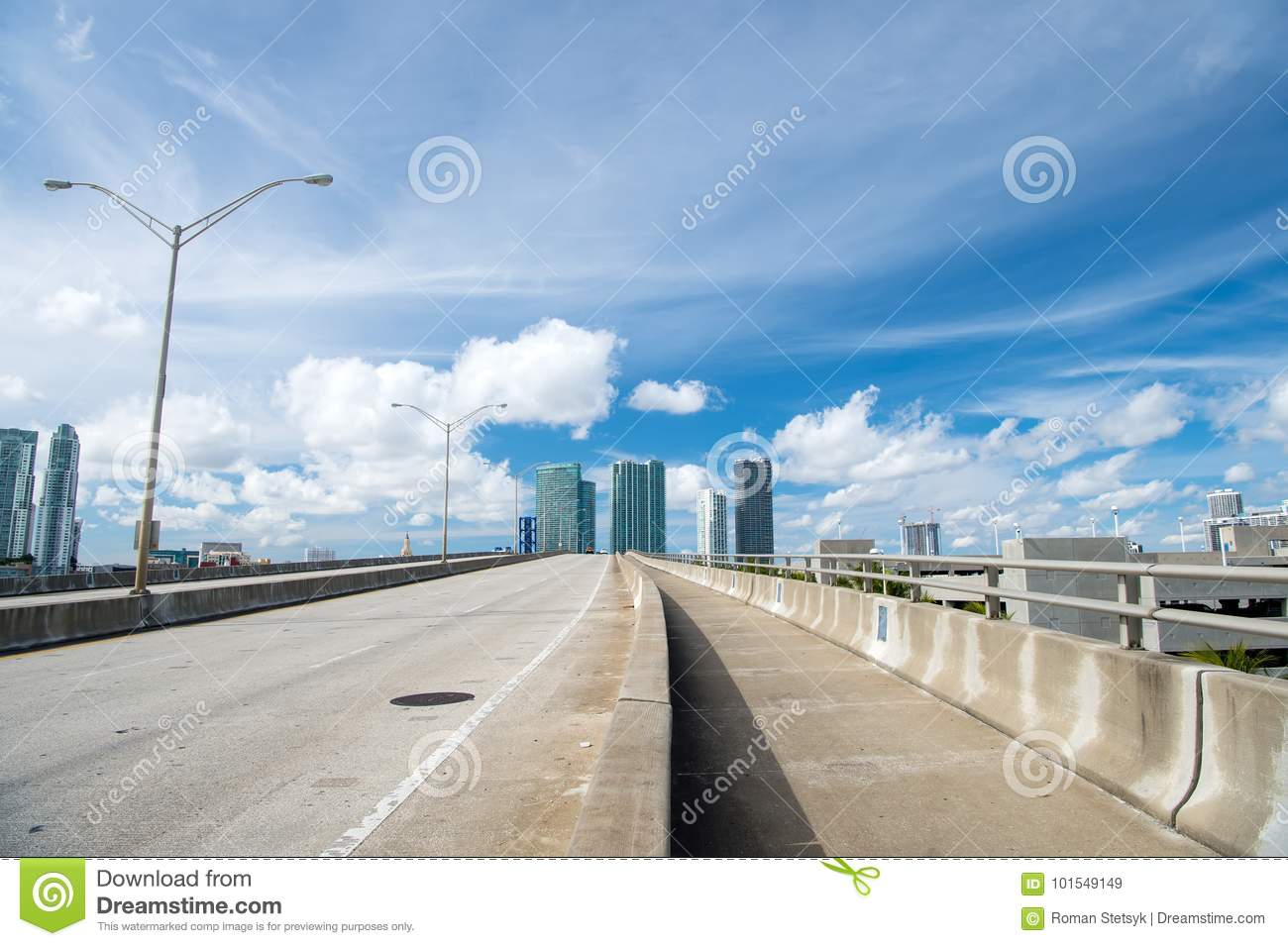 Miami Highway Or Public Road Roadway Stock Image - Image of