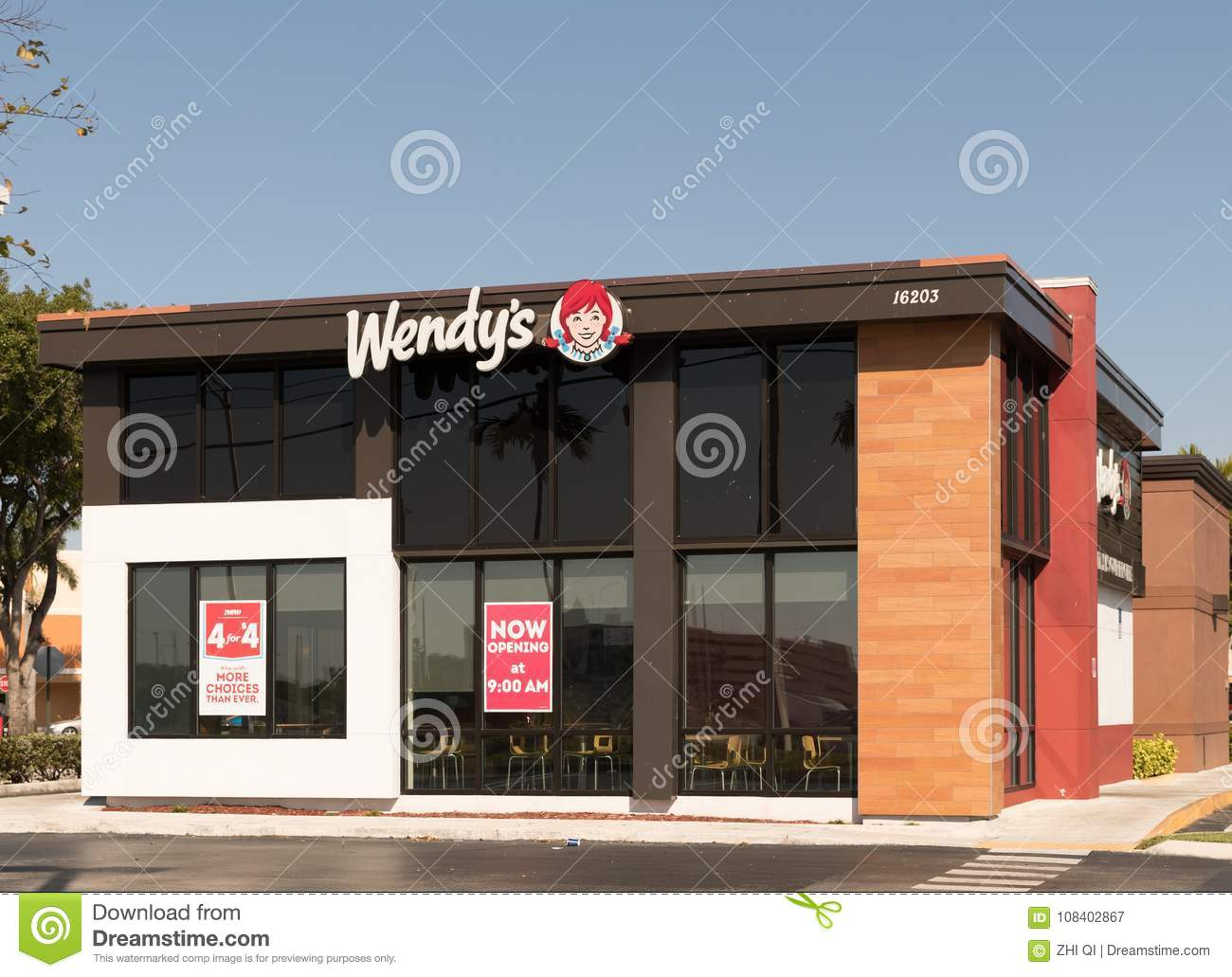 Wendy S Fast Food Restaurant Exterior And Sign Wendy S Is The World S Third Largest Hamburger Fast Food Chain With Approximately Editorial Photography Image Of Menu Wendy 108402867