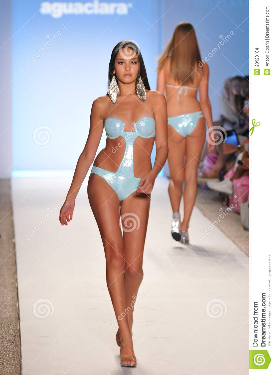 Miami July 18 Model Walking Runway At The Aguaclara