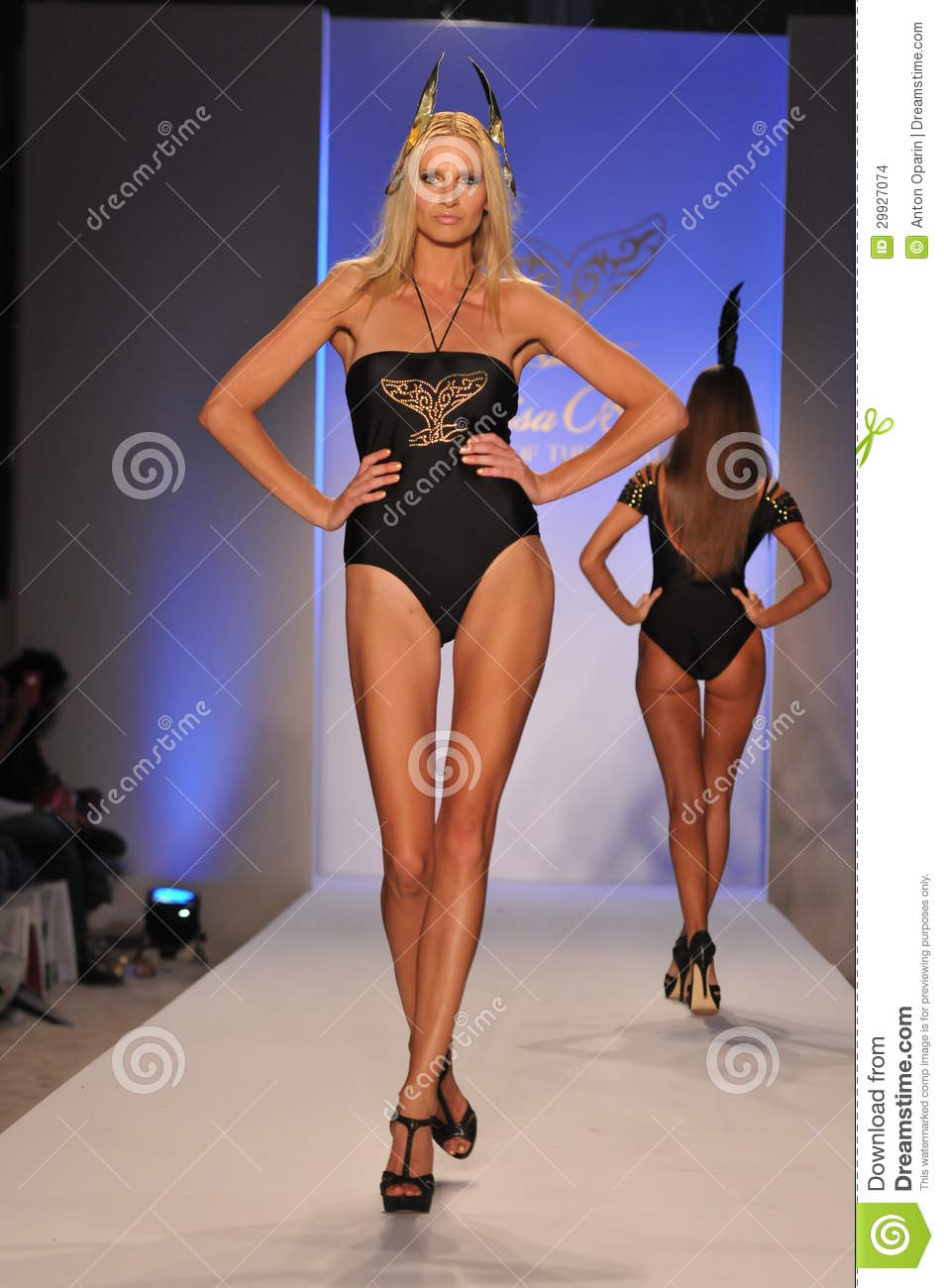 Mercedes Benz Of Miami >> MIAMI - JULY 17: Model Walking Runway At The Lisa Blue Collection For Spring/ Summer 2012 ...