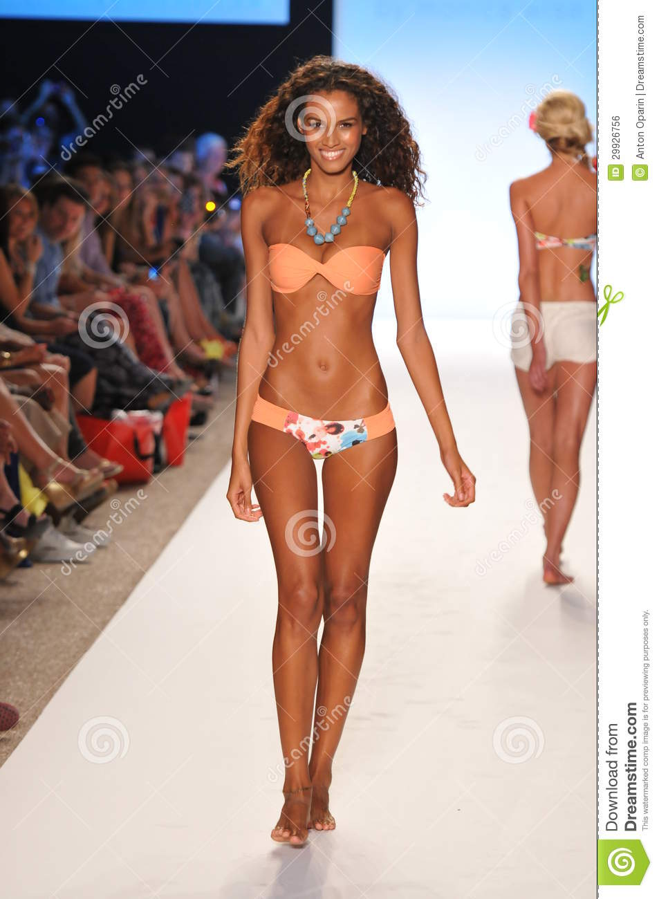 8f4be9ff7d MIAMI - JULY 14  Model walks runway at the L Space Swimsuit Collection for  Spring