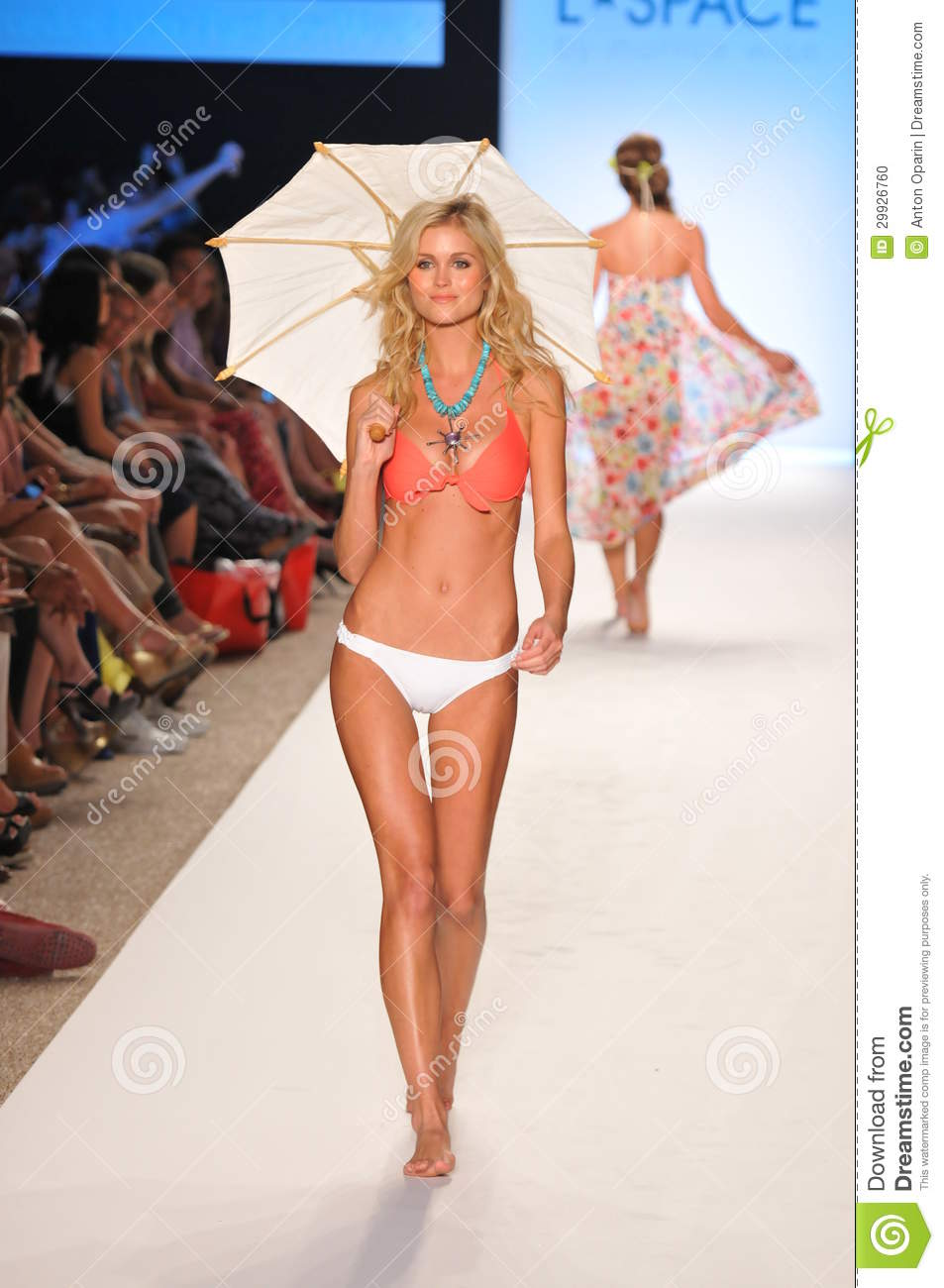 MIAMI - JULY 14: Model Walks Runway At The L Space