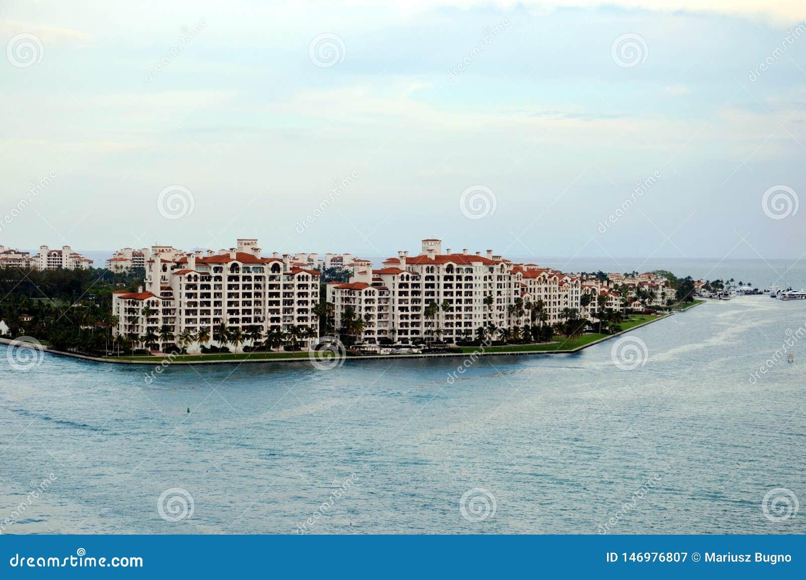 Miami, mening op Fisher Island