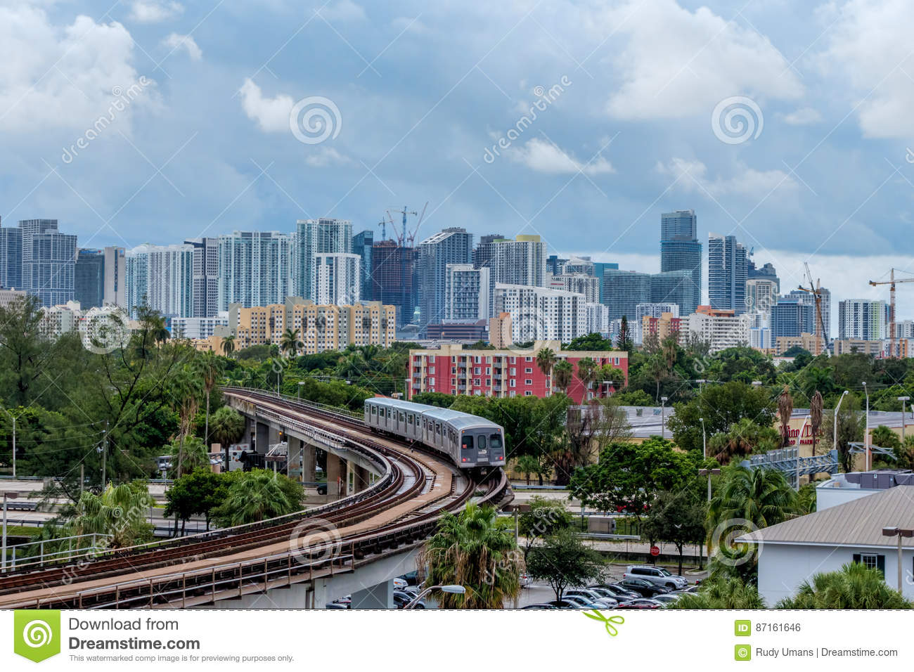 Miami Metro Rail editorial photo  Image of mass, florida