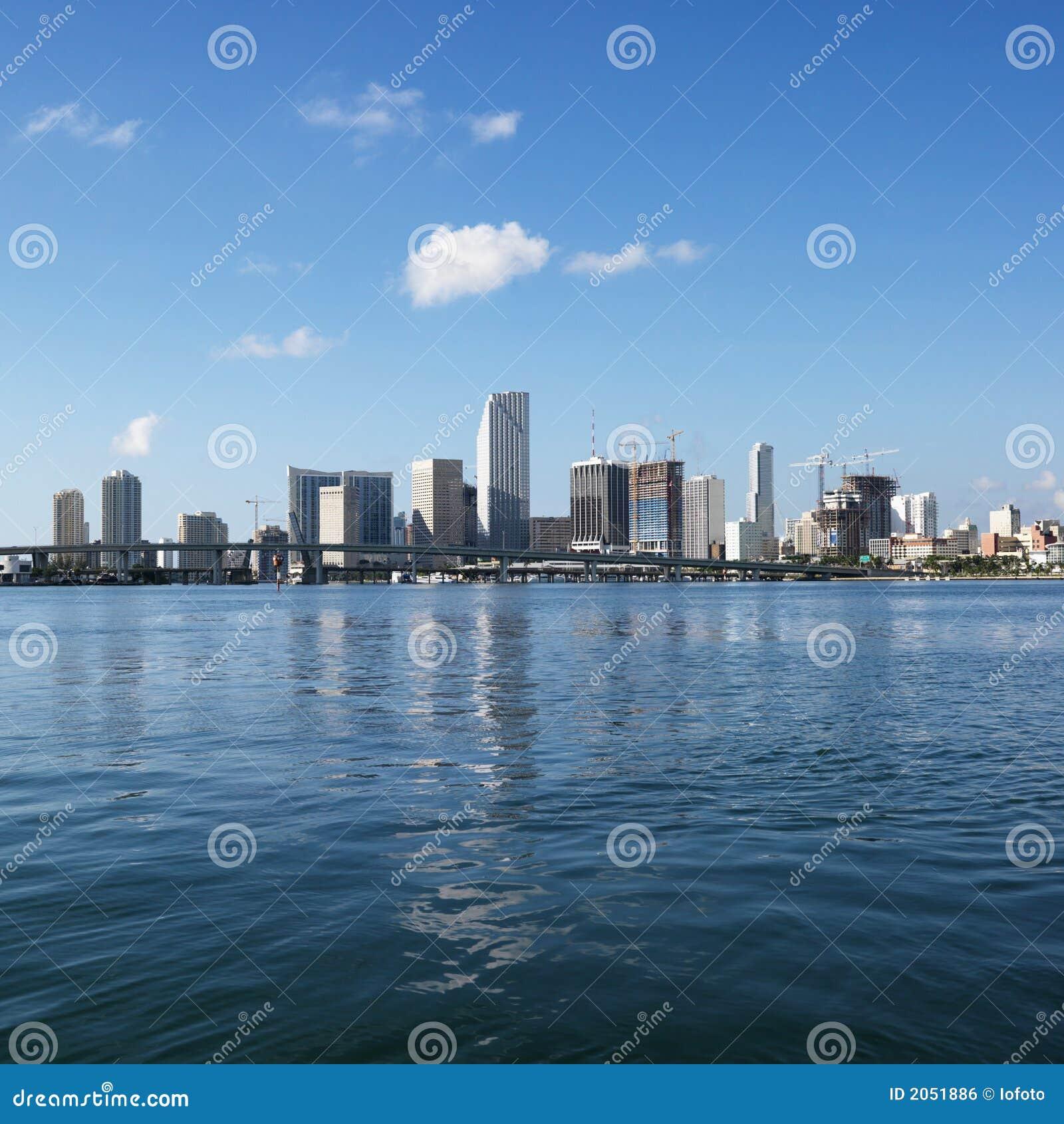 Miami nabrzeże linia horyzontu