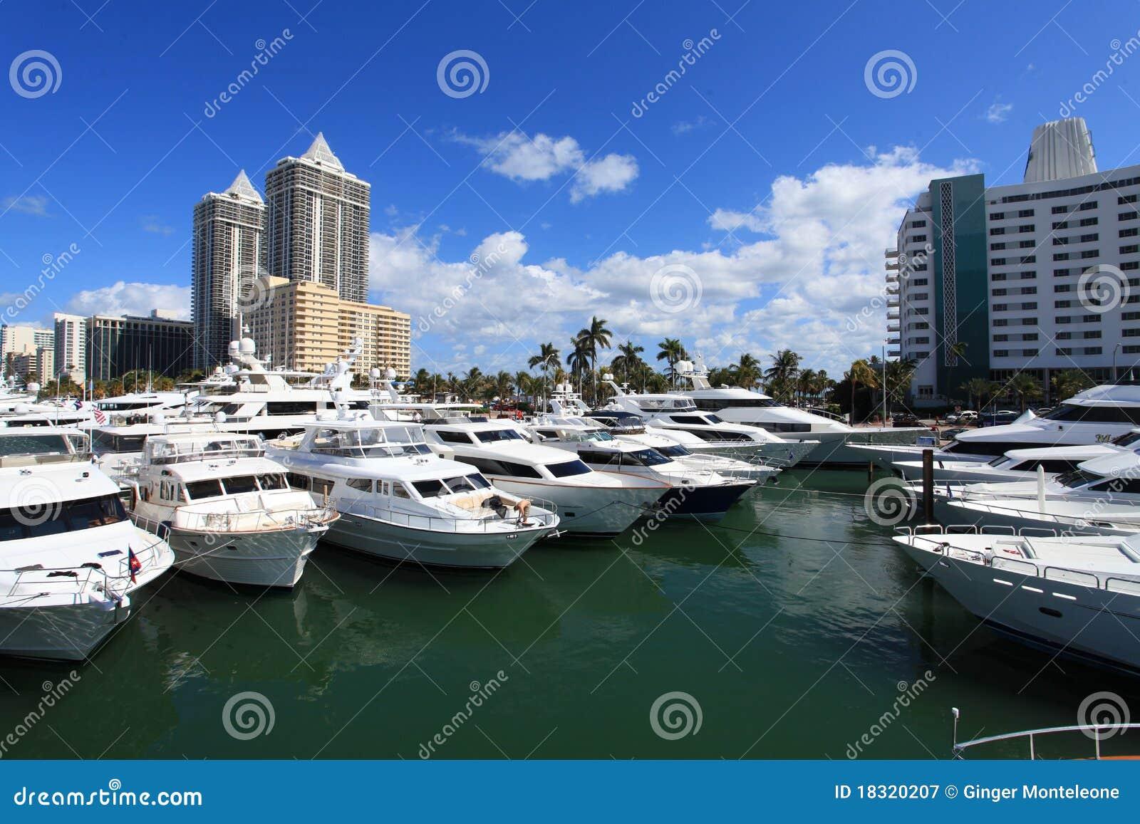 Miami plażowy łódkowaty przedstawienie