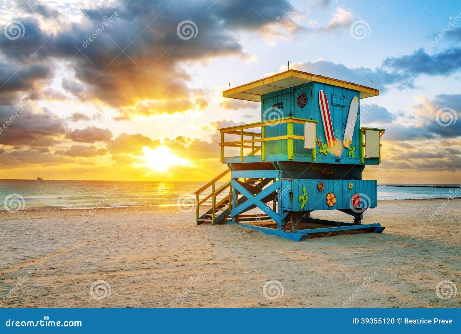 Miami południe plaży wschód słońca