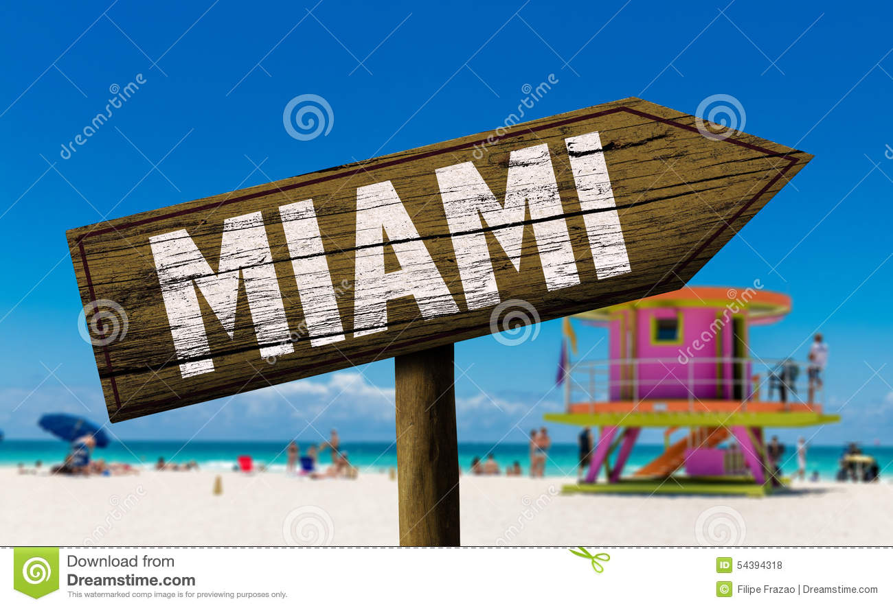 Miami City Direction Sign - USA Traffic Directional Sign, SKU: K ...