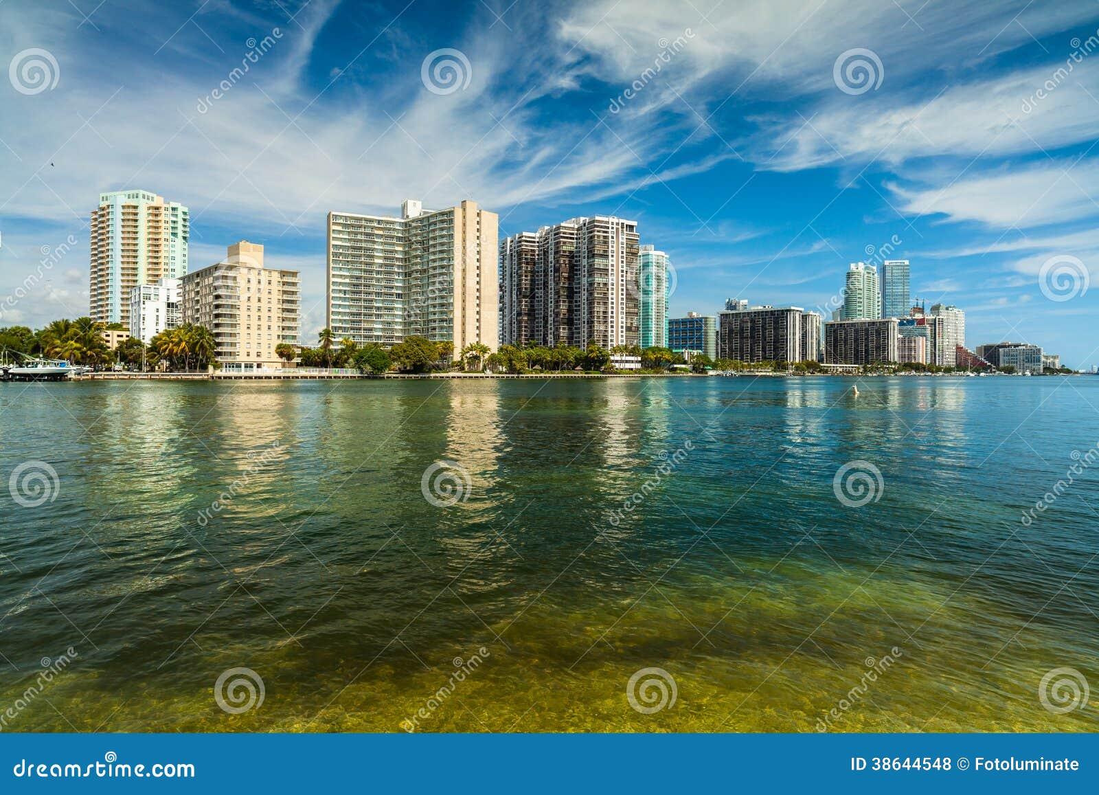 Miami Skyline stock photo. Image of downtown, metropolitan ...