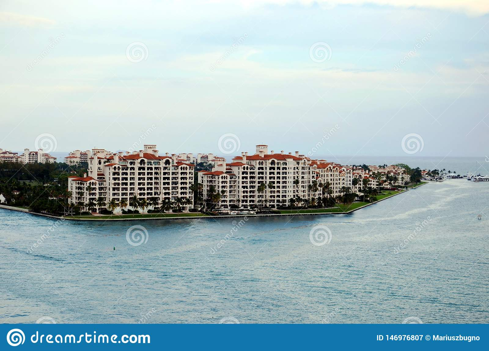 Miami, view on the Fisher Island