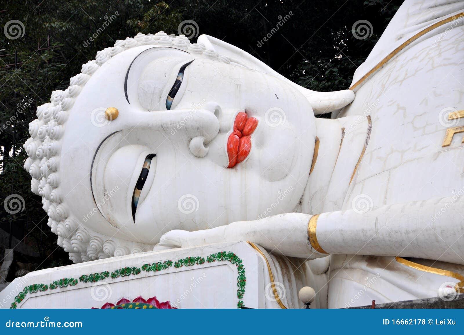 Mianyang China  City new picture : Mianyang, China: Face Of Reclining Buddha Royalty Free Stock Photos ...