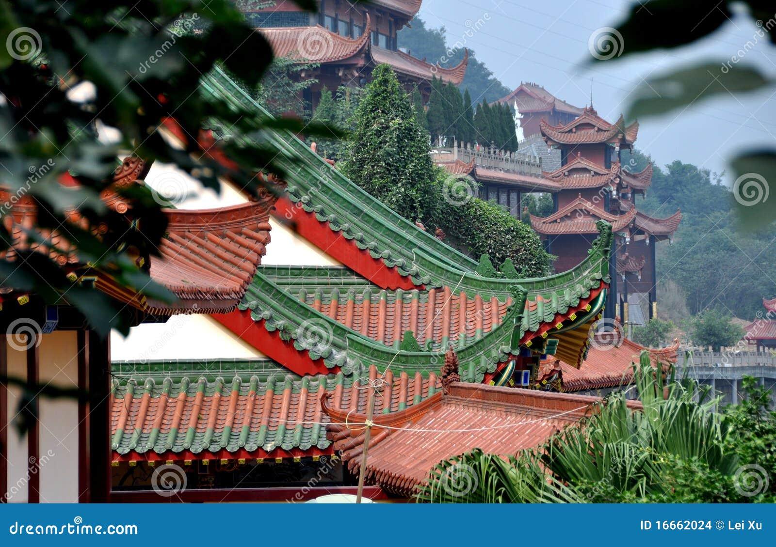 Mianyang China Sheng Shui Buddhist Temple Stock Photo