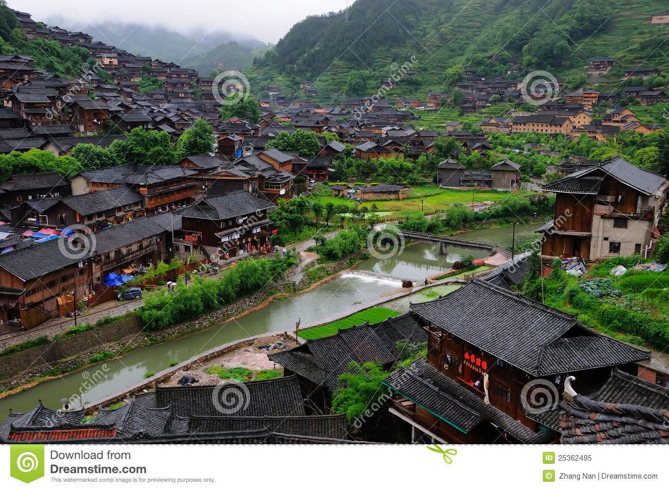 The Miao national minority people live place