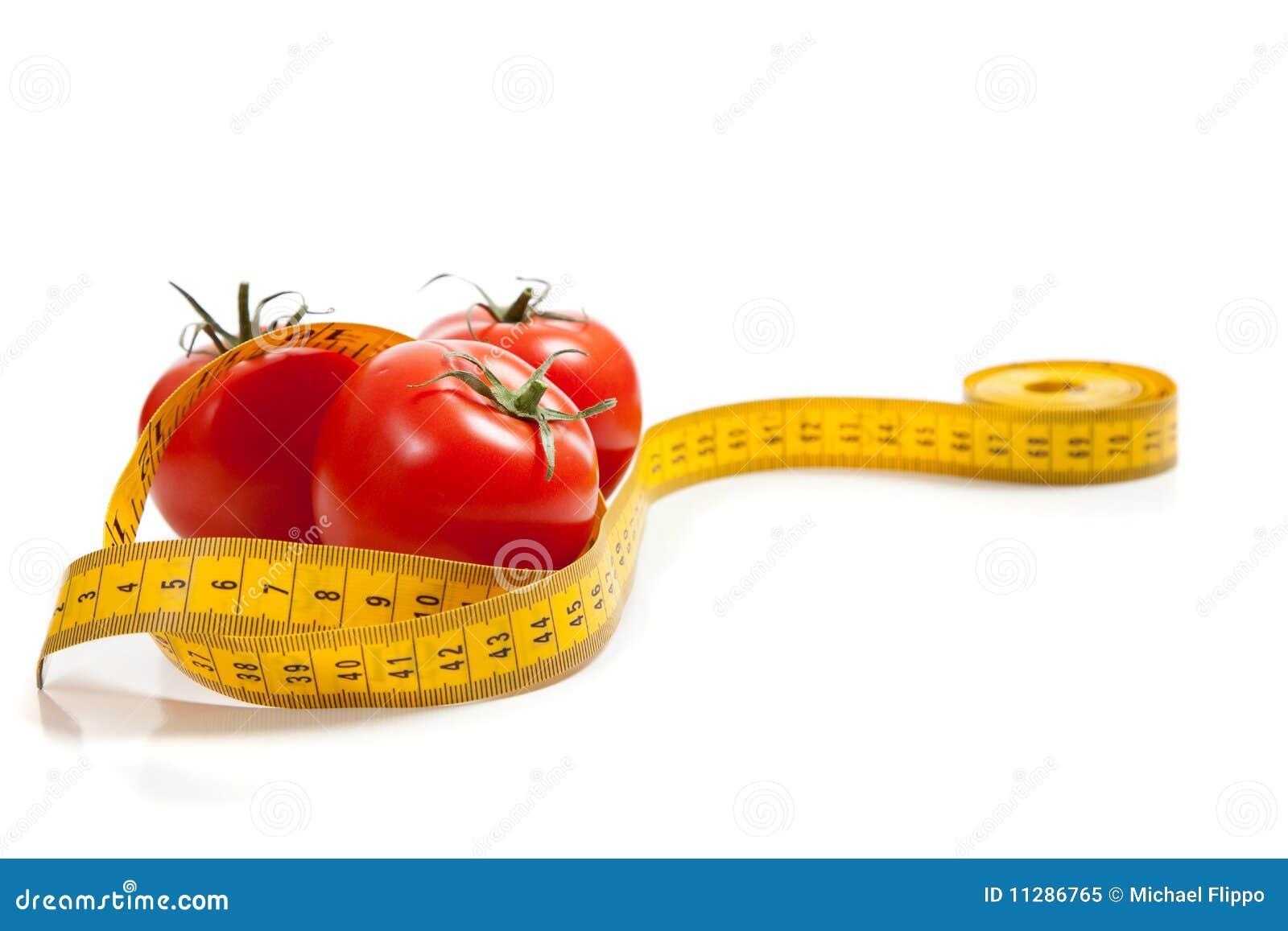 Miara taśmy pomidor