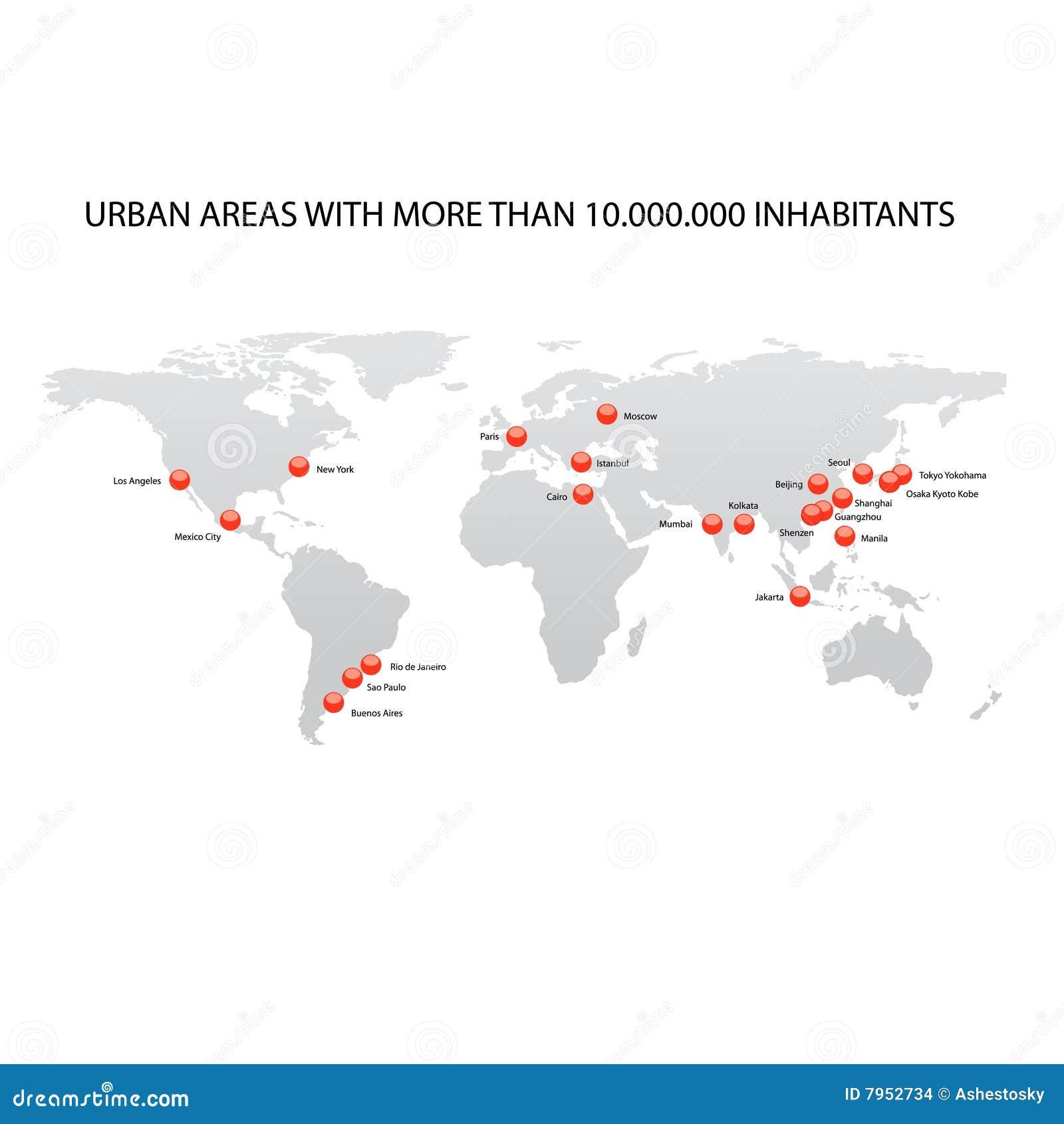 Miast wielki mapy świat