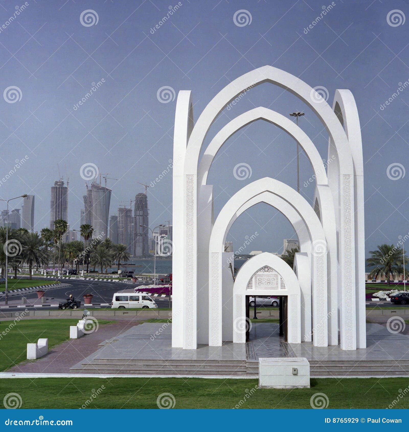 Miasta Doha widok