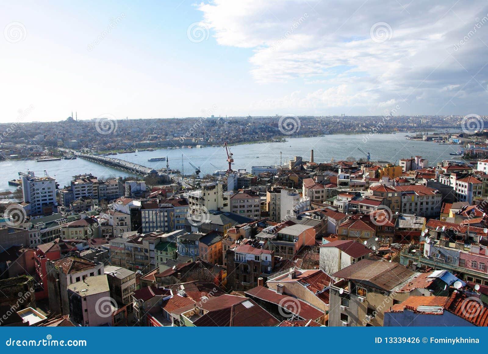 Miasta galata Istanbul krajobrazowy pa wierza
