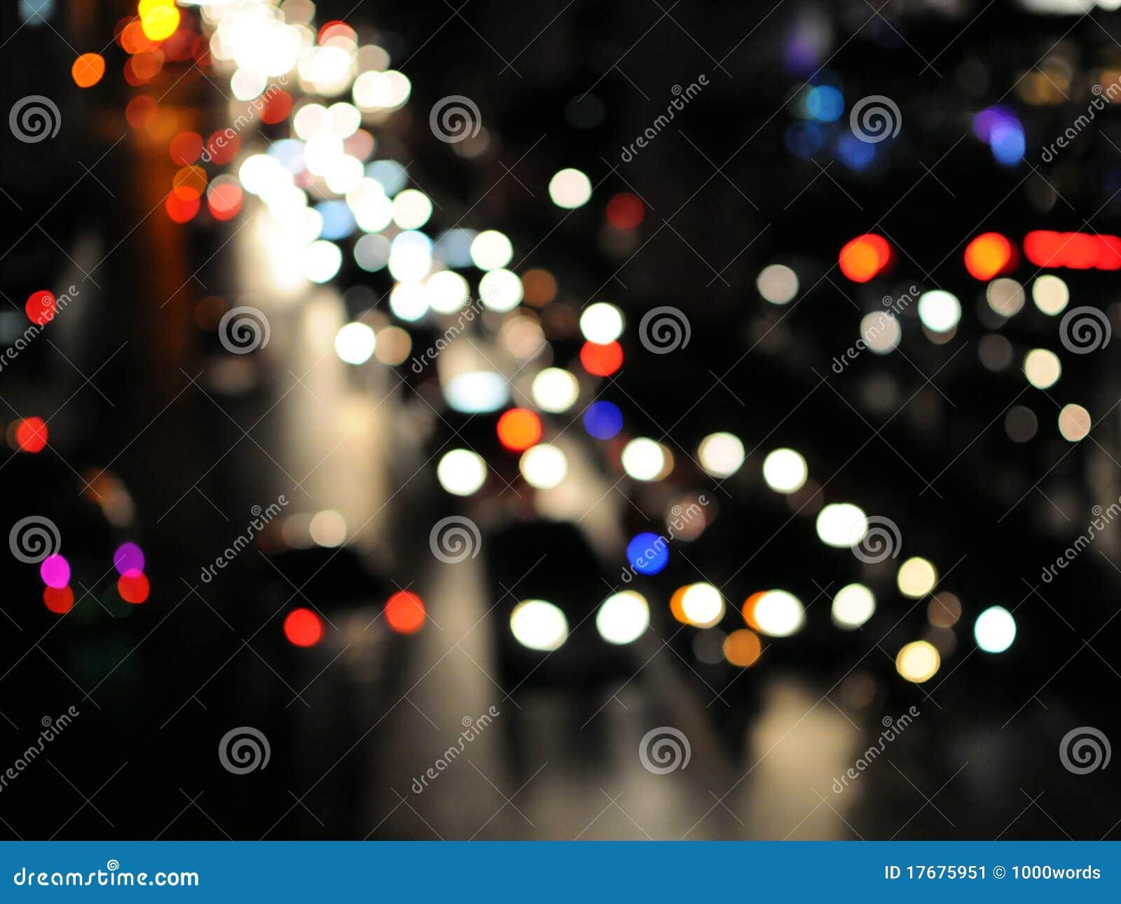 Miasta godzina noc drogowy pośpiech