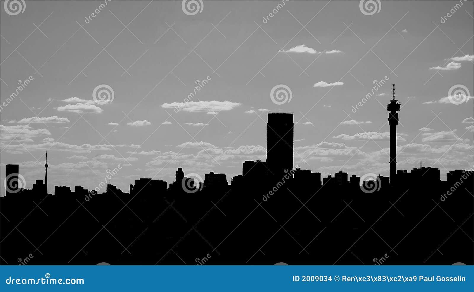 Miasta linia horyzontu sylwetka