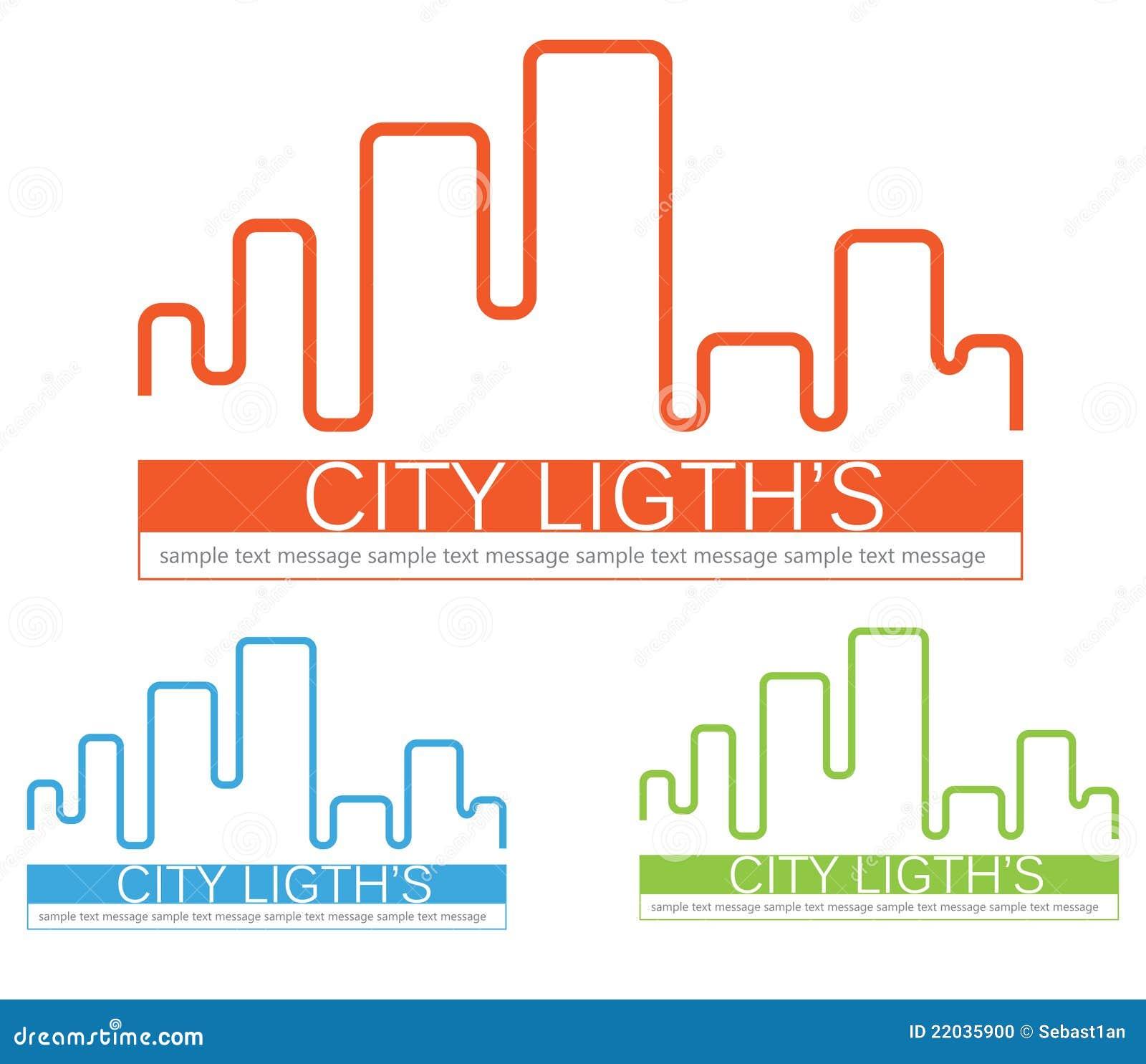 Miasta loga linia horyzontu